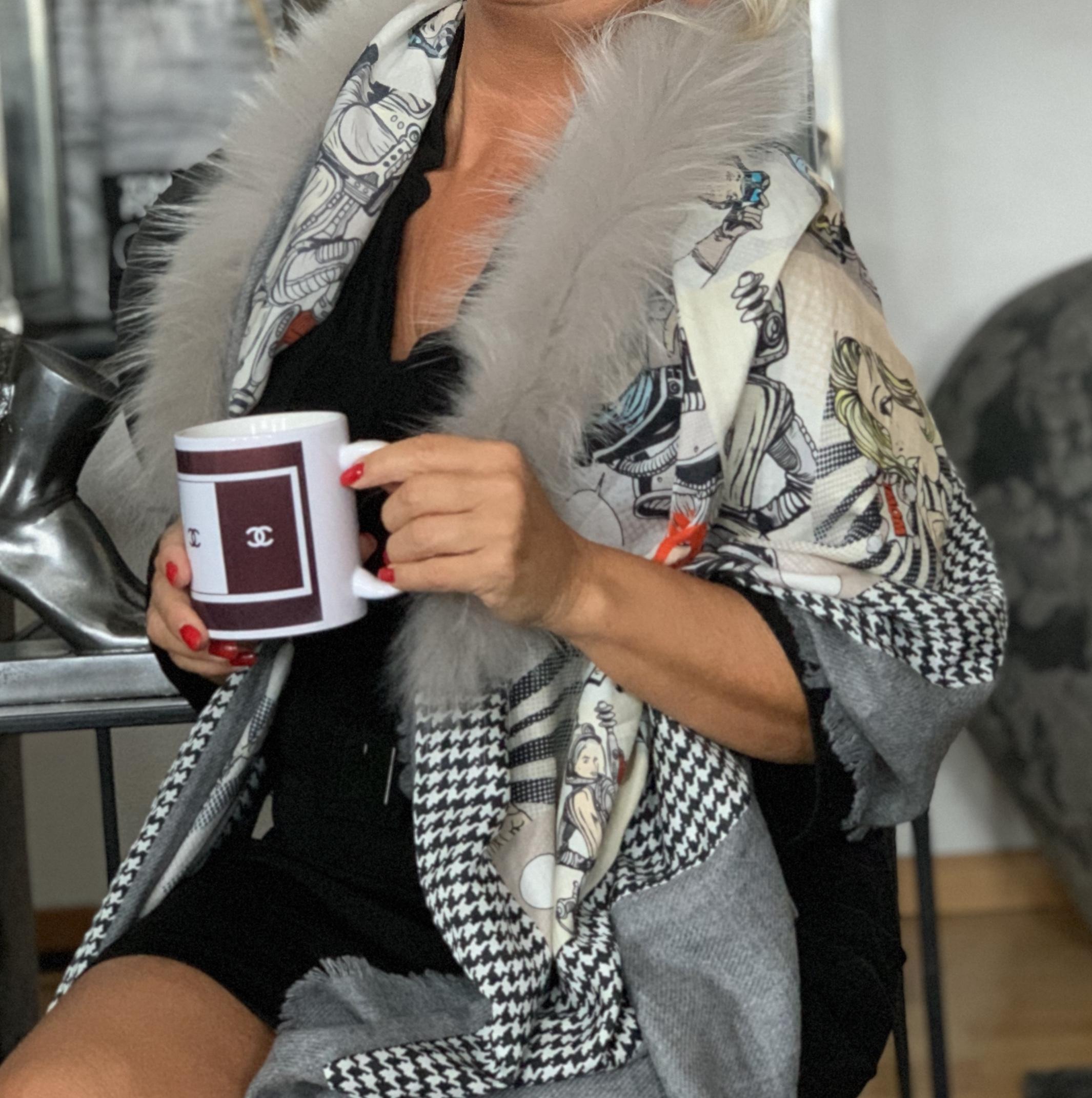 MALA ALISHA SCARF SUPER WOMEN med päls IMAGE BY ME