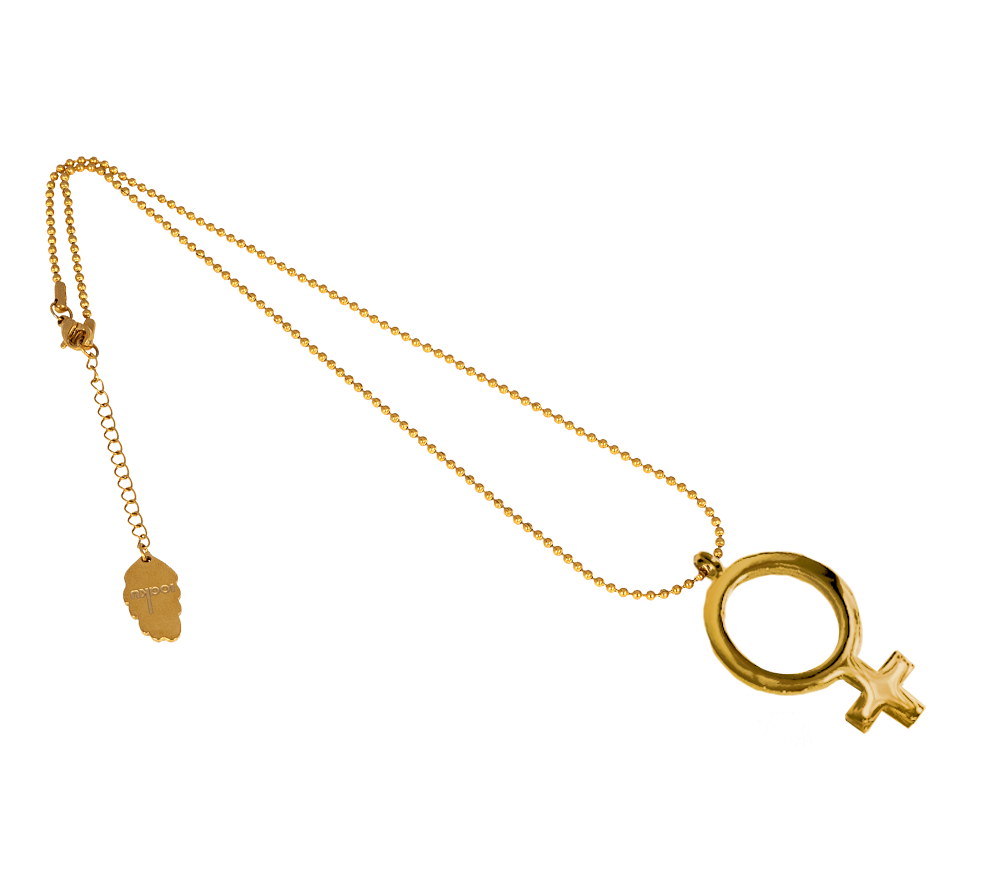 IOAKU Gold FEMALE SIGN NECKLACE IMAGE BY ME