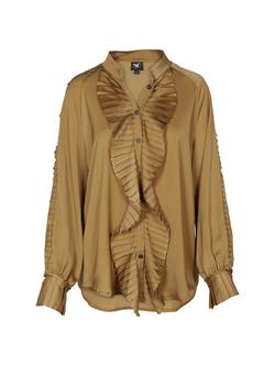 NÜ DENMARK GINE RECYCLED SHIRT GOLDEN OLIVE IMAGE BY ME