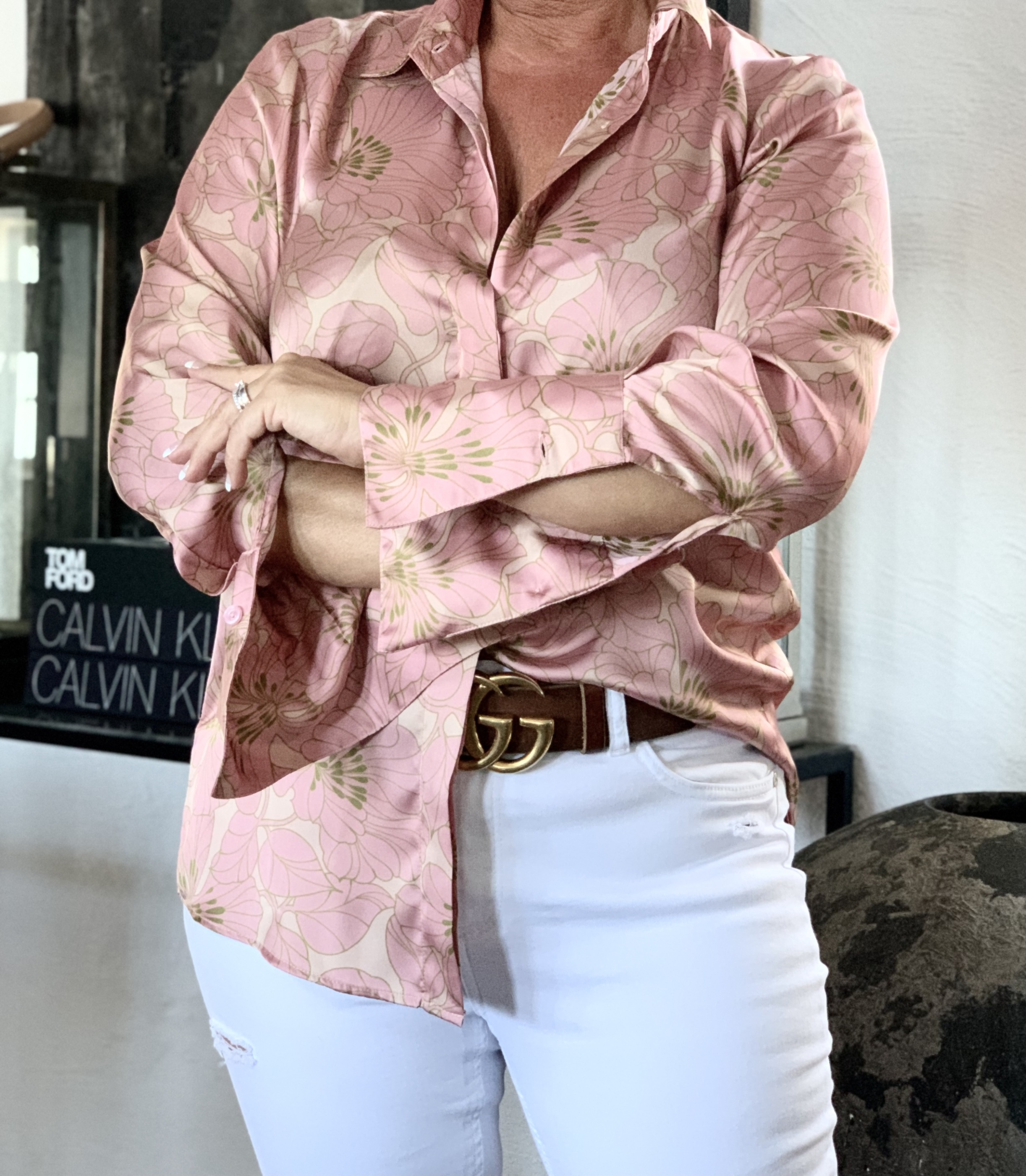 KARMAMIA Zoe Shirt - Gardenia Blush IMAGE BY ME