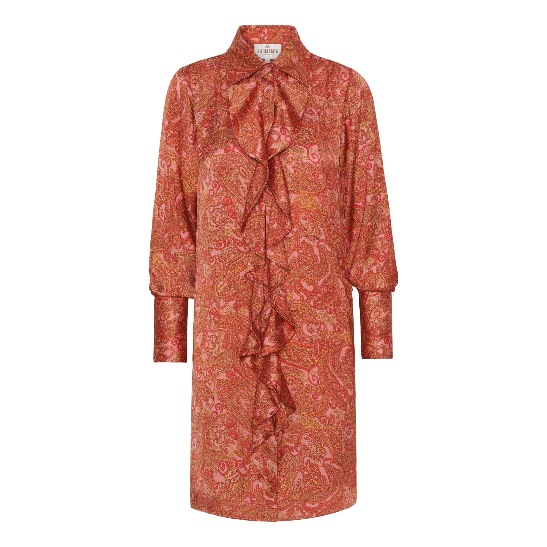 Ruffle Kimono (short) - Pink Paisley KARMAMIA CPH IMAGE BY ME