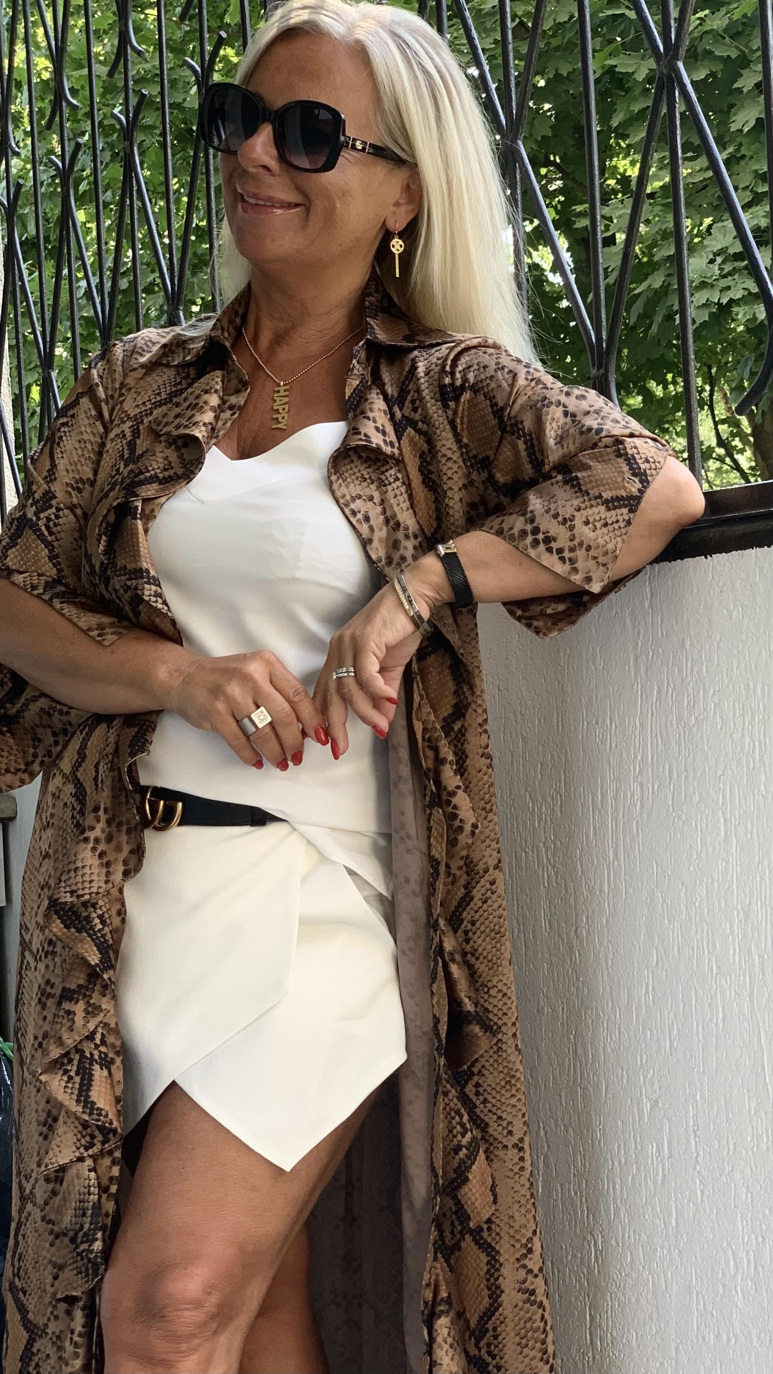 Desert-Snake-Ruffle-Kimono KARMAMIA IMAGE BY ME