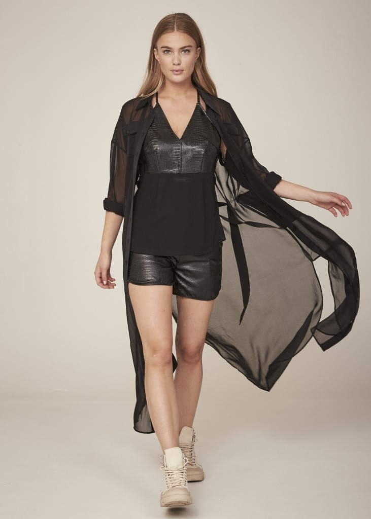 HILDE FAUX LEATHER TOP IMAGE BY ME