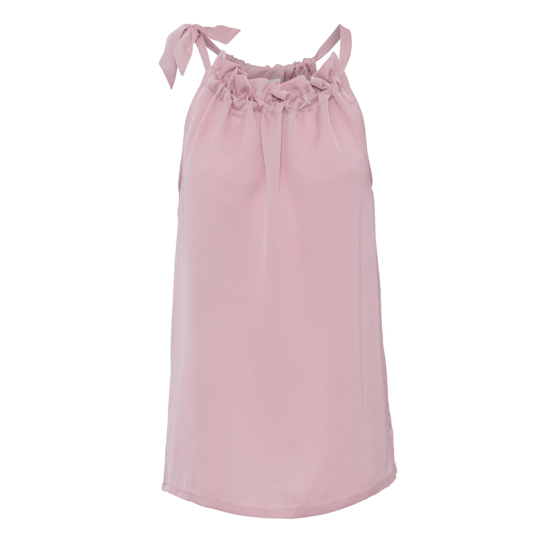 Ballet Pink Ruffle Tie Top KARMAMIA IMAGE BY ME