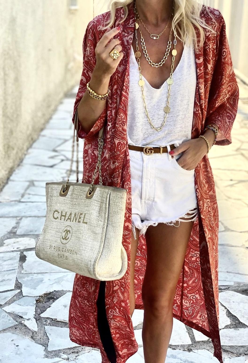 Nikki Kimono (long) - Cerise Paisley IMAGE BY ME KARMAMIA CPH