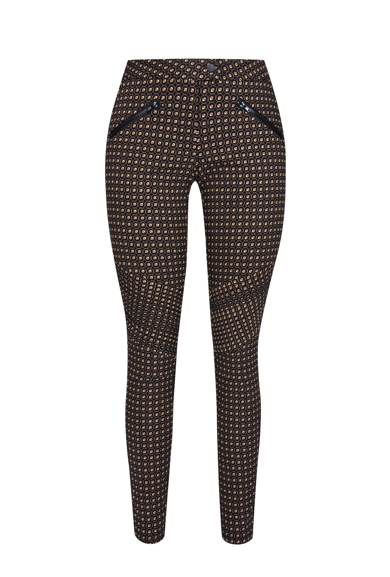 NÜ DANMARK INEZ PATTERNED TROUSERS BLACK MIX IMAGE BY ME
