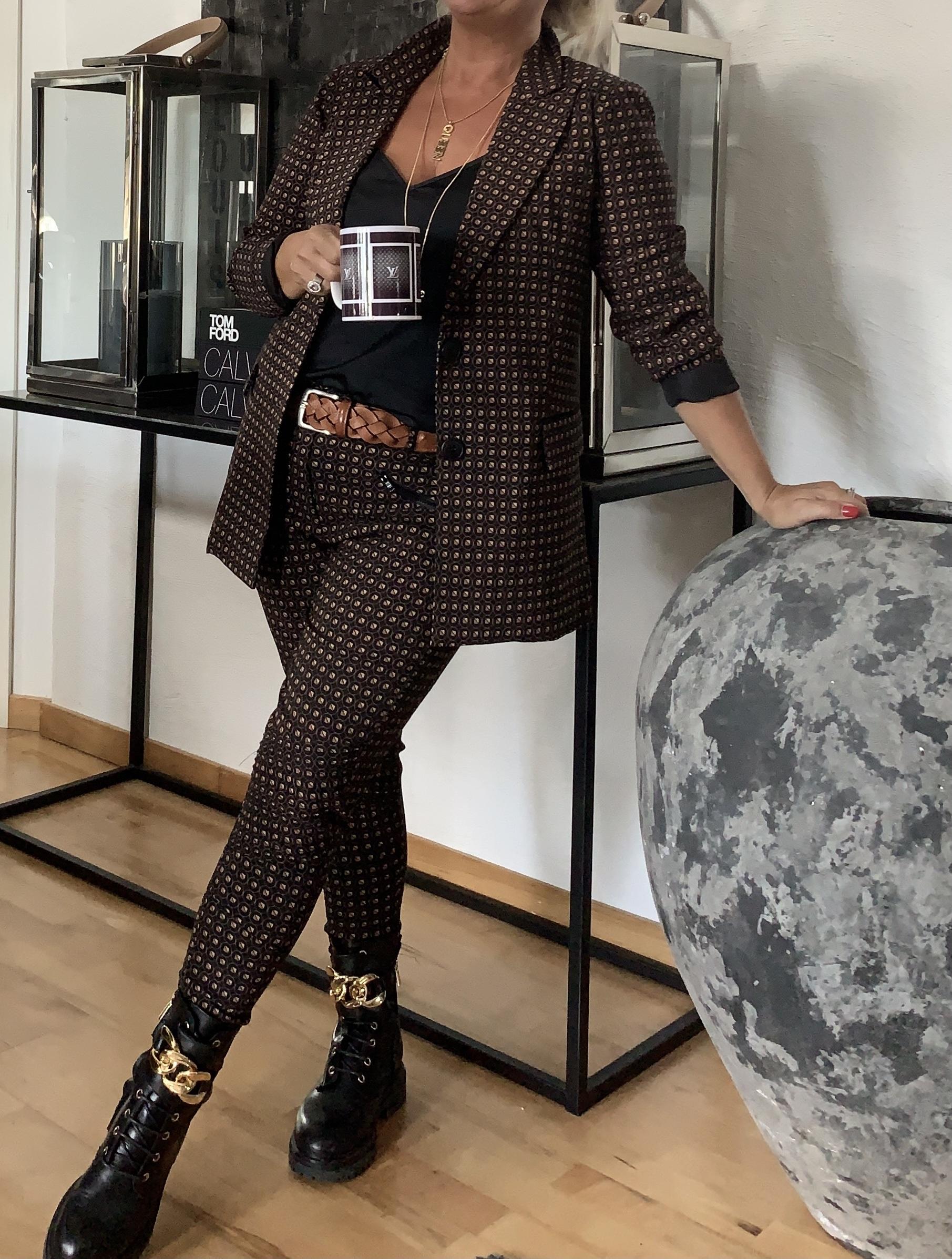 NÜ DANMARK INEZ PATTERNED BLAZER BLACK MIX IMAGE BY ME