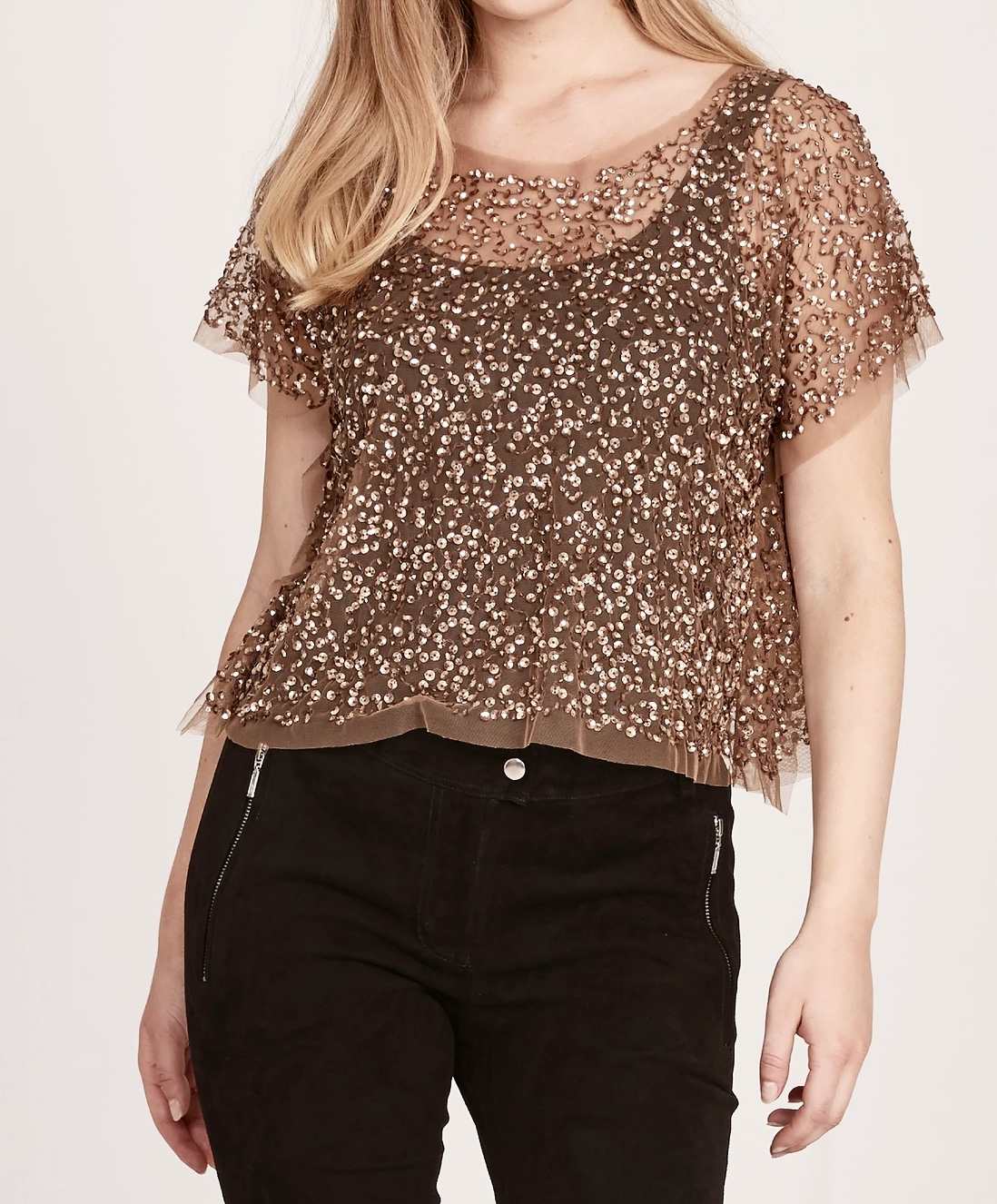 NÜ DANMARK EMMA TOP WITH SEQUINS IMAGE BY ME