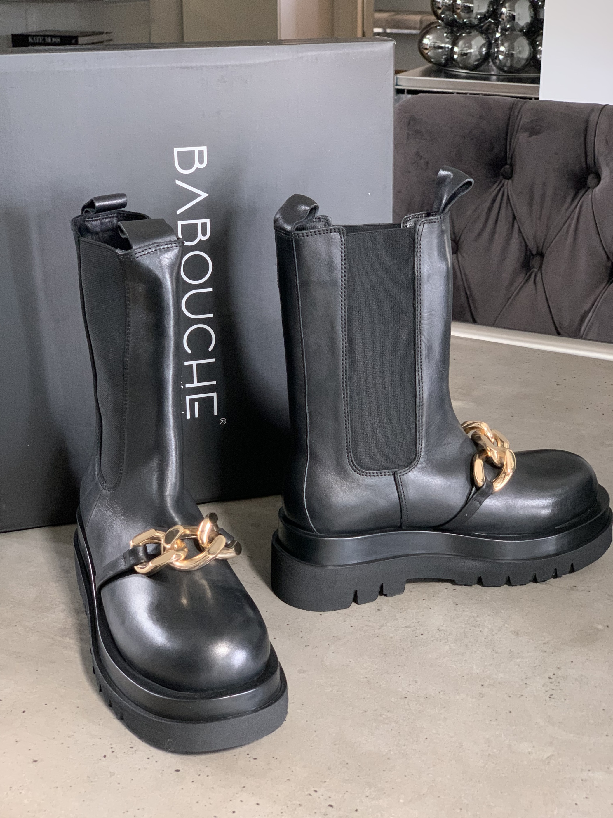 BABOUCHE BLACK BOOTS IMAGE BY ME