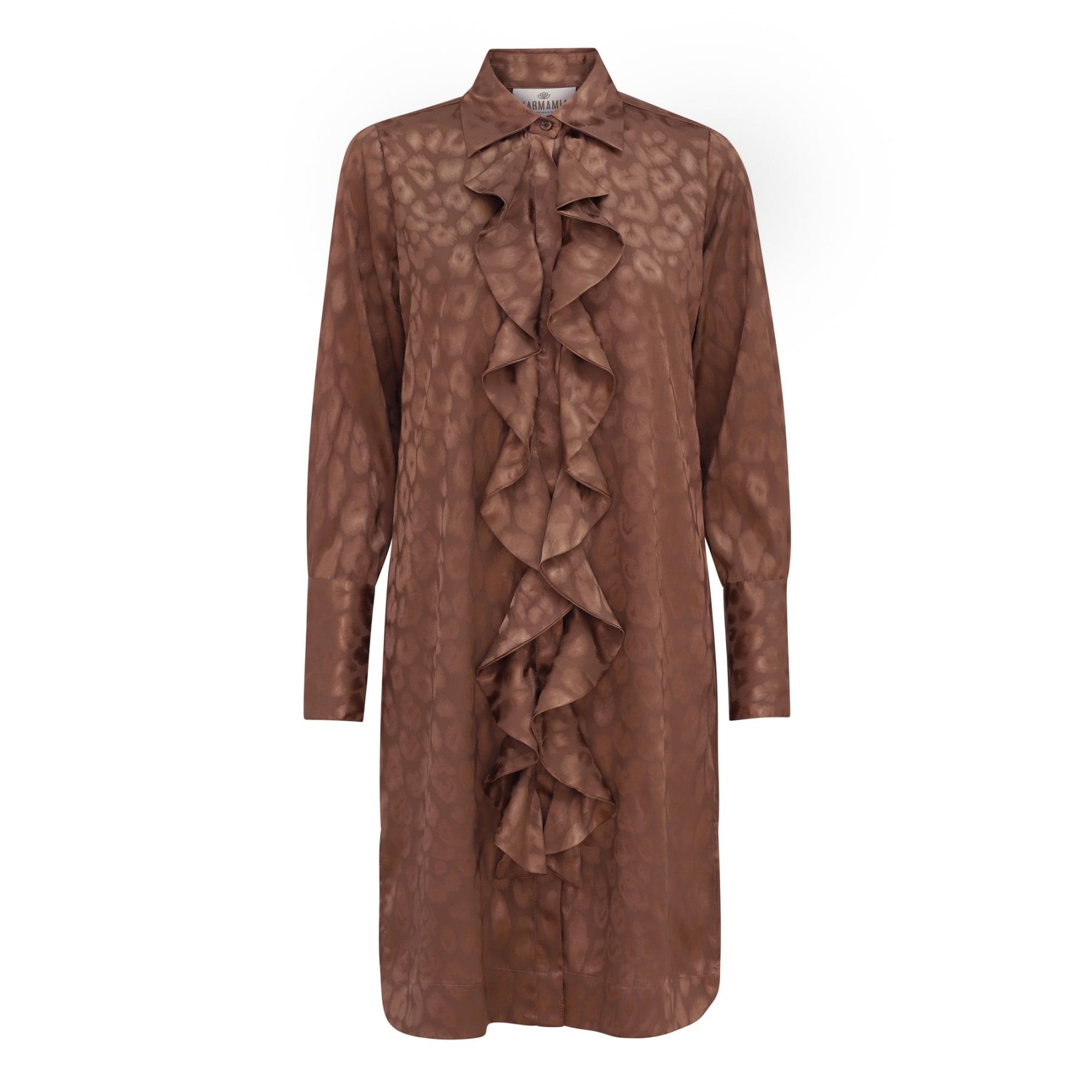 Ruffle Kimono (short) - Bronze Leo Jacquard KARMAMIA IMAGE BY ME