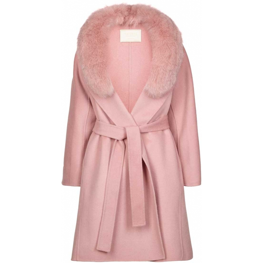 Valerie Jacket PINK of Wool Blend Fox NATURES COLLECTION IMAGE BY ME