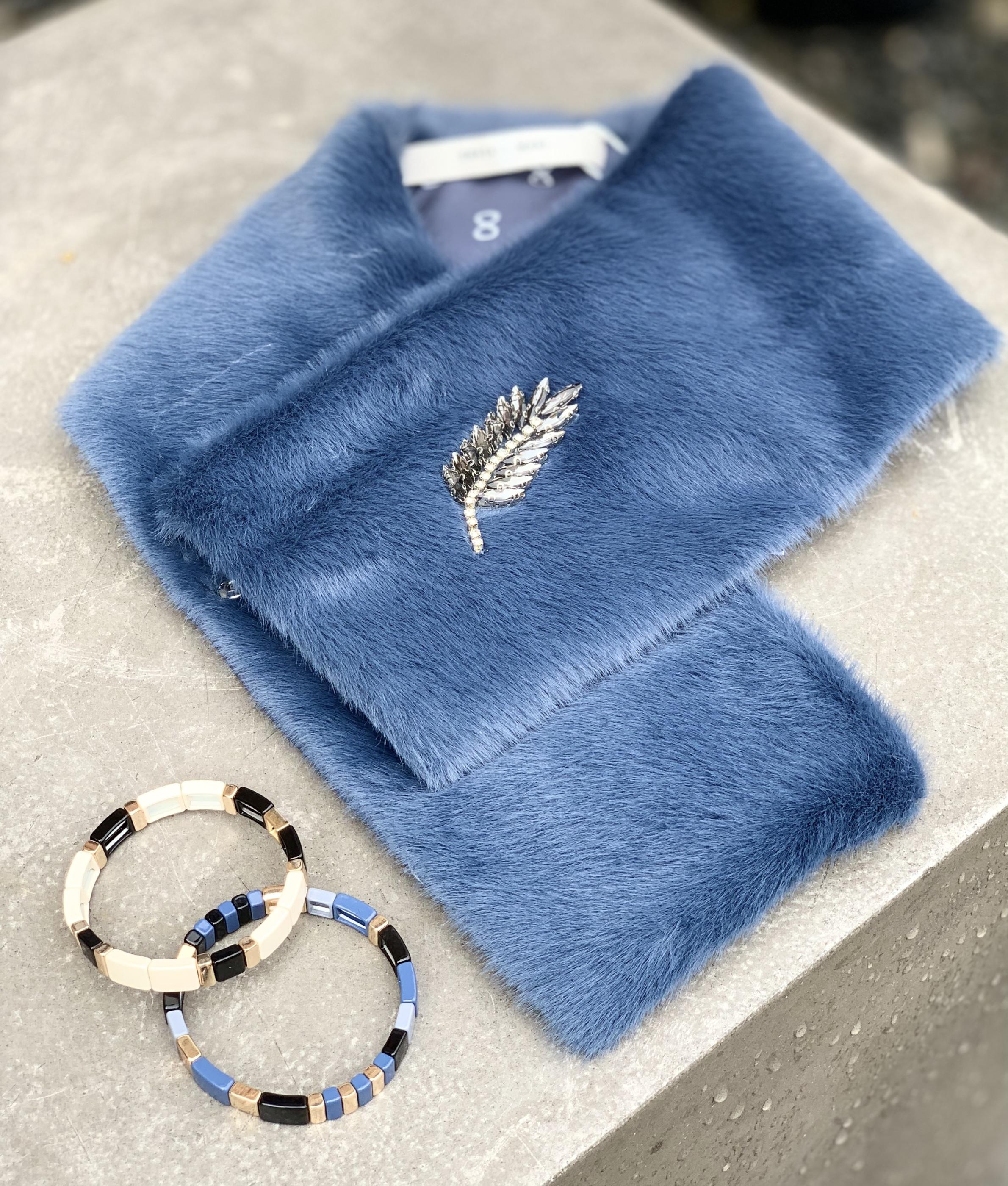 COSTA MANI BLUE fuskpäls IMAGE BY ME