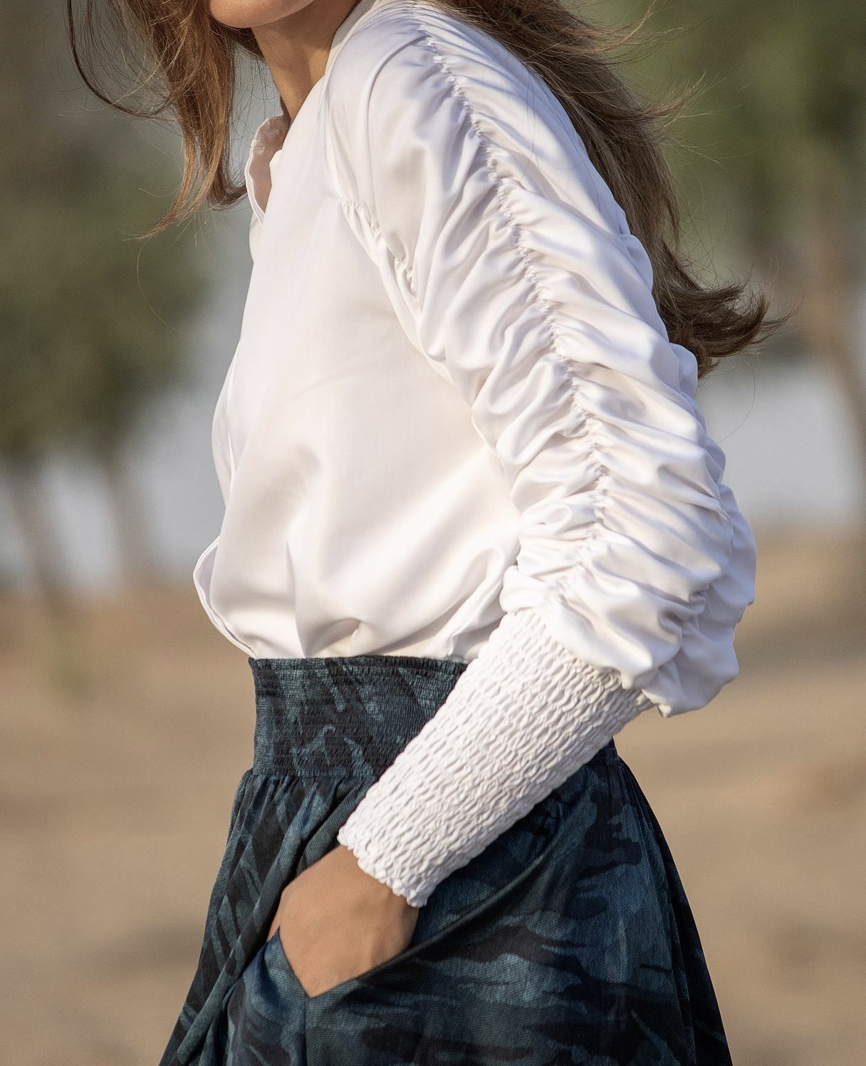 KARMAMIA Morgan Shirt – White Cotton IMAGE BY ME