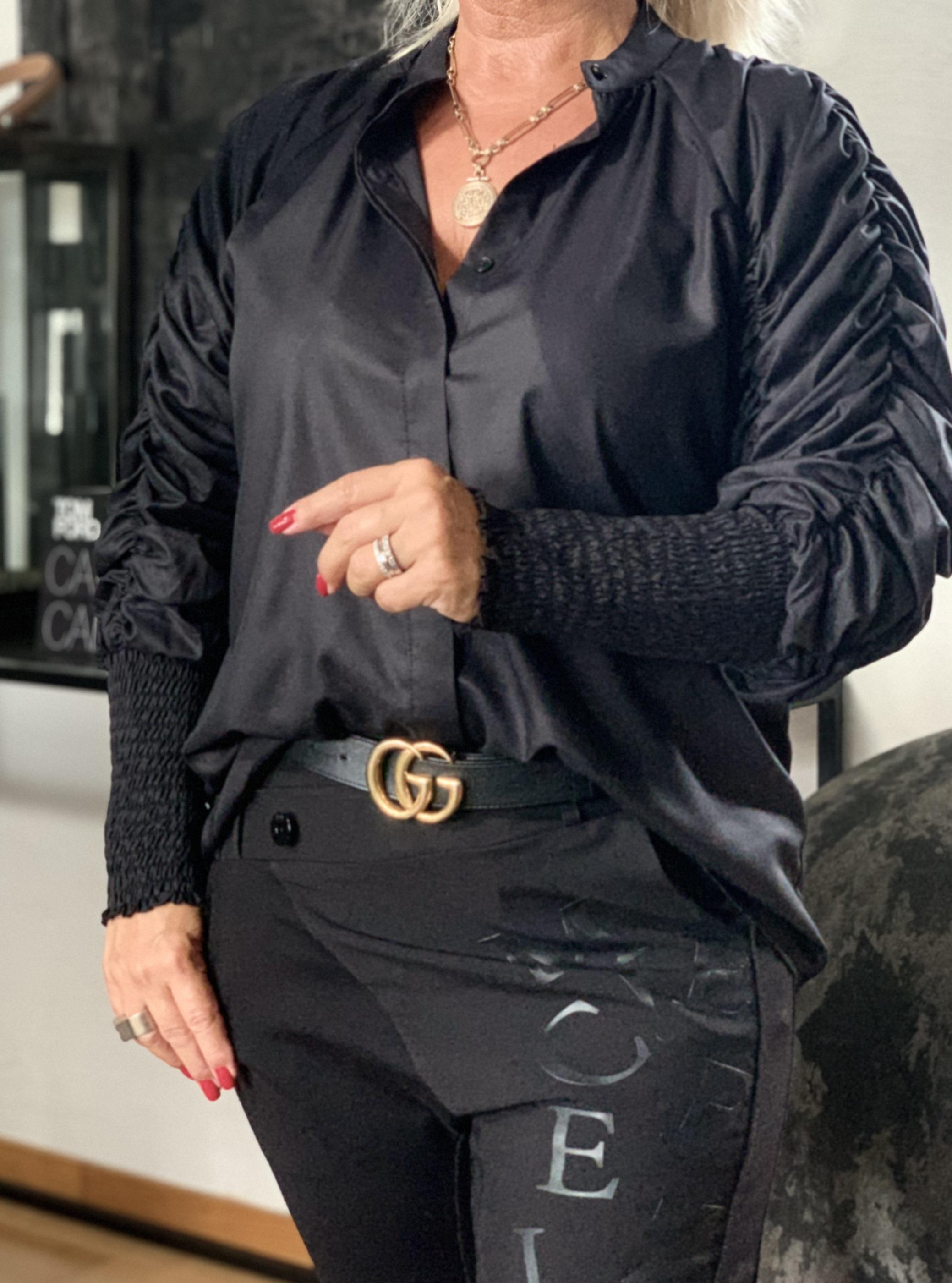 KARMAMIA Morgan Shirt – Black Cotton IMAGE BY ME
