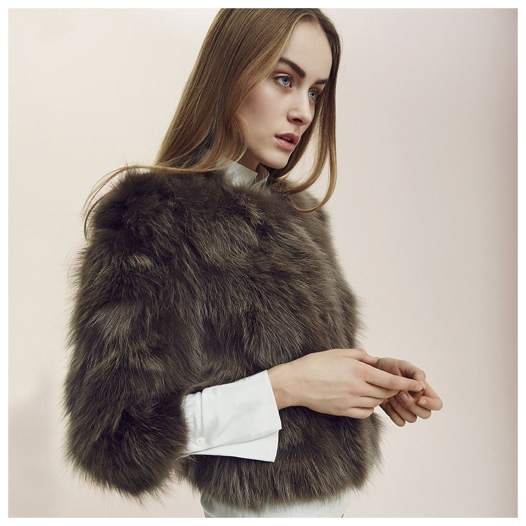 NATURES COLLECTION Bella (Jacket of Raccoon belly)  IMAGE BY ME