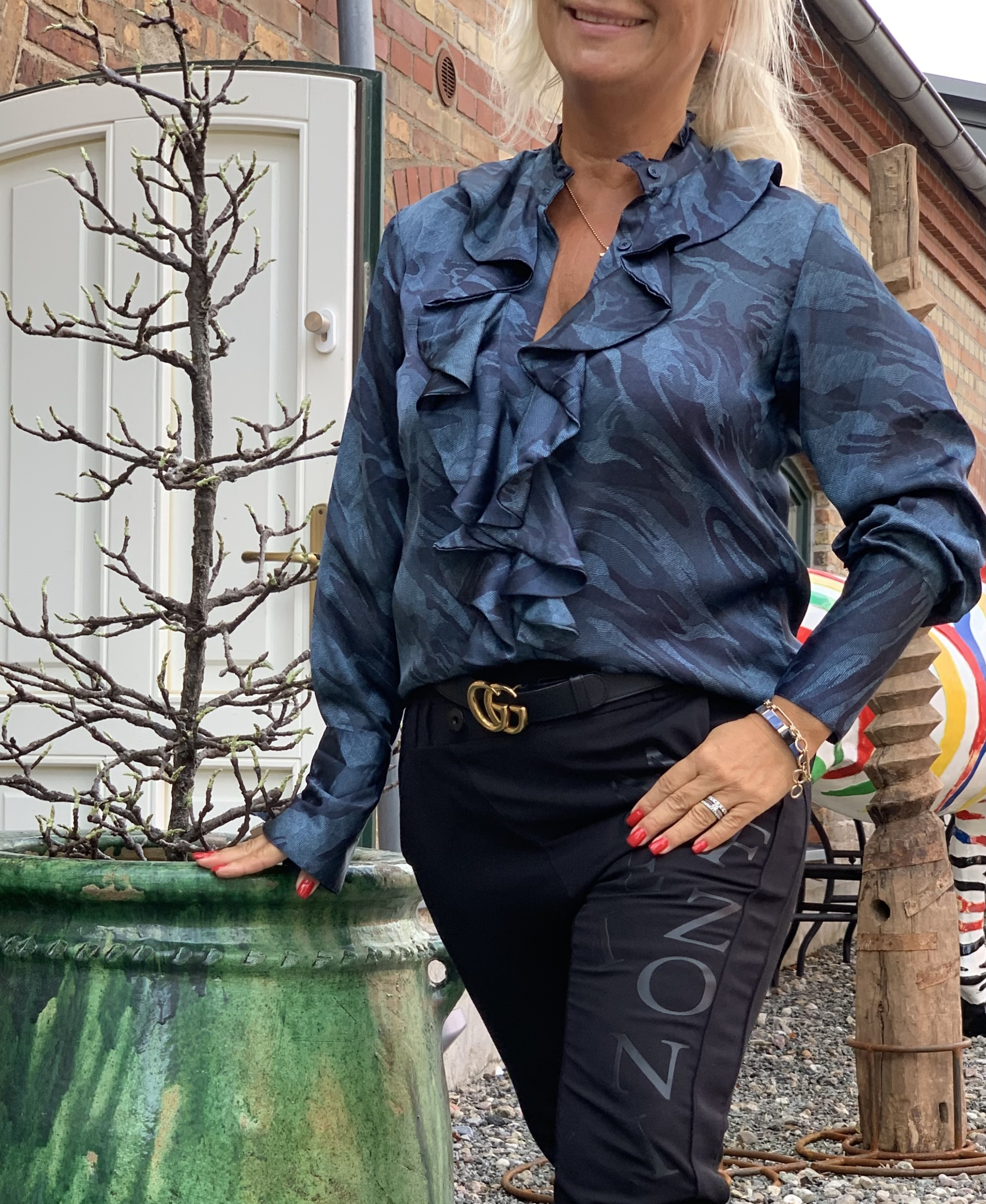 Stella Shirt - Blue Camouflage image by me karmamia