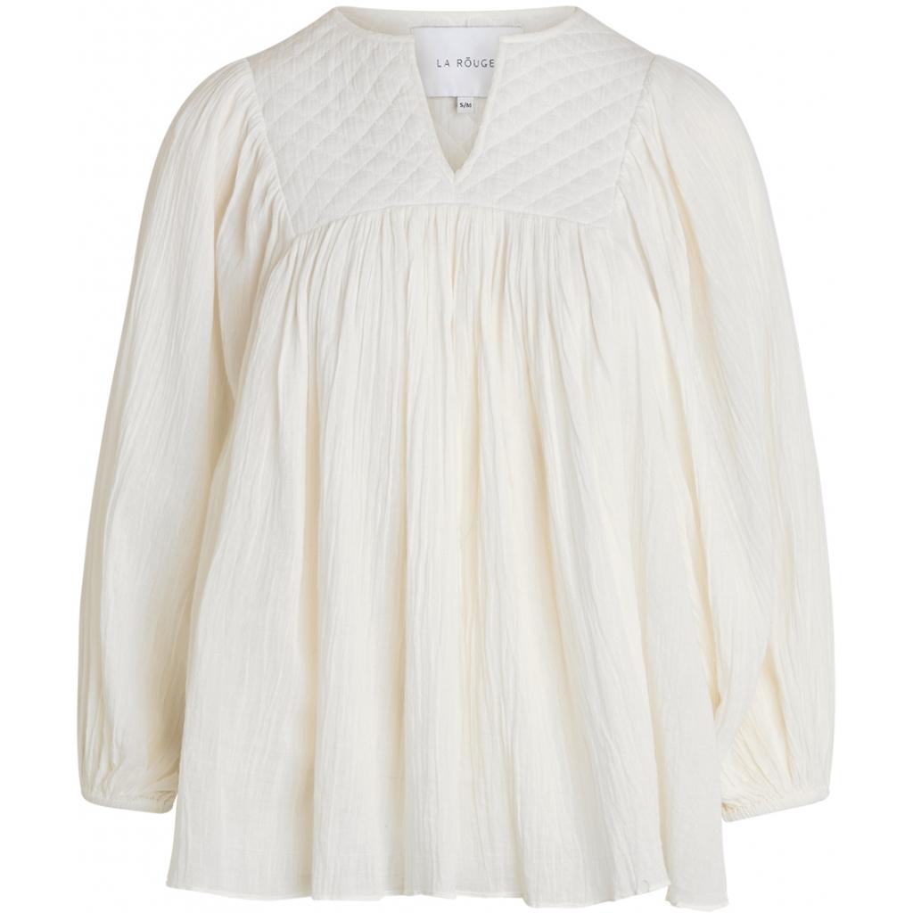 LA ROUGE Malle Blouse Off White IMAGE BY ME