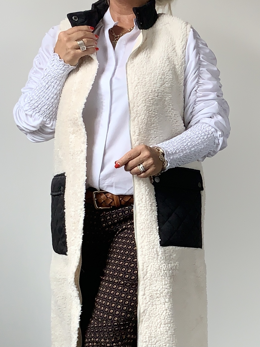 COSTA MANI Teddy vest IMAGE BY ME