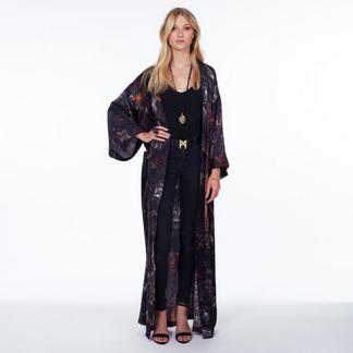 MÄRTA LARSSON | Janis Kimono - Black Obsidian Long