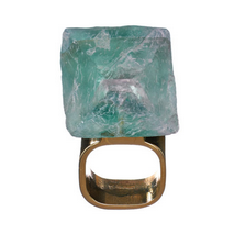 MÄRTA LARSSON | Roxx Green Fluorite Ring - Gold Small 15,5 mm