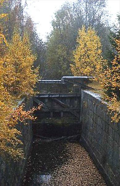 Slussport i Åma kanal