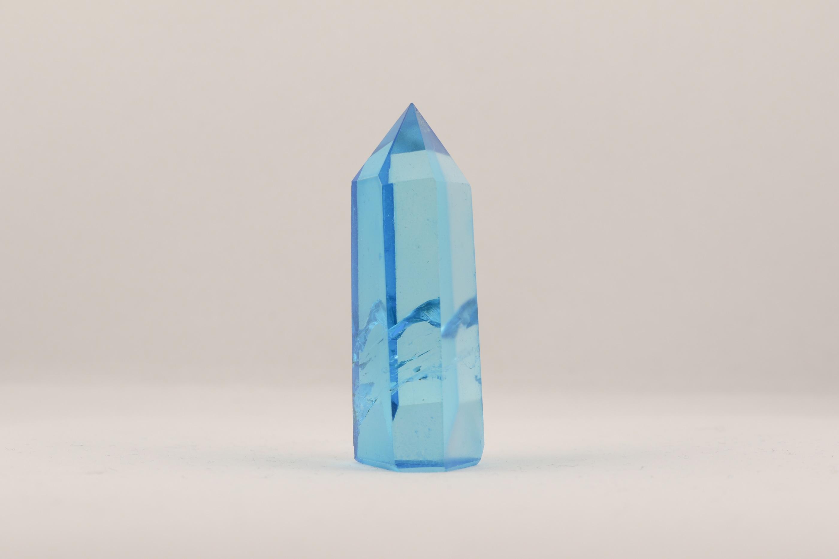 Aqua Aura stav spets ädelsten kristaller slipade stenar healing stenar chakra stenar