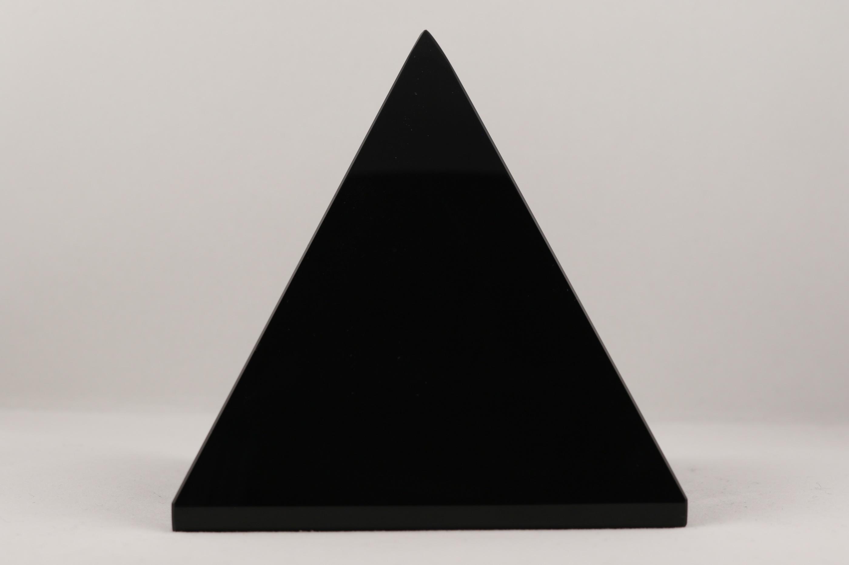 Obsidian pyramid ädelstenar kristaller slipade stenar healing stenar chakra stenar