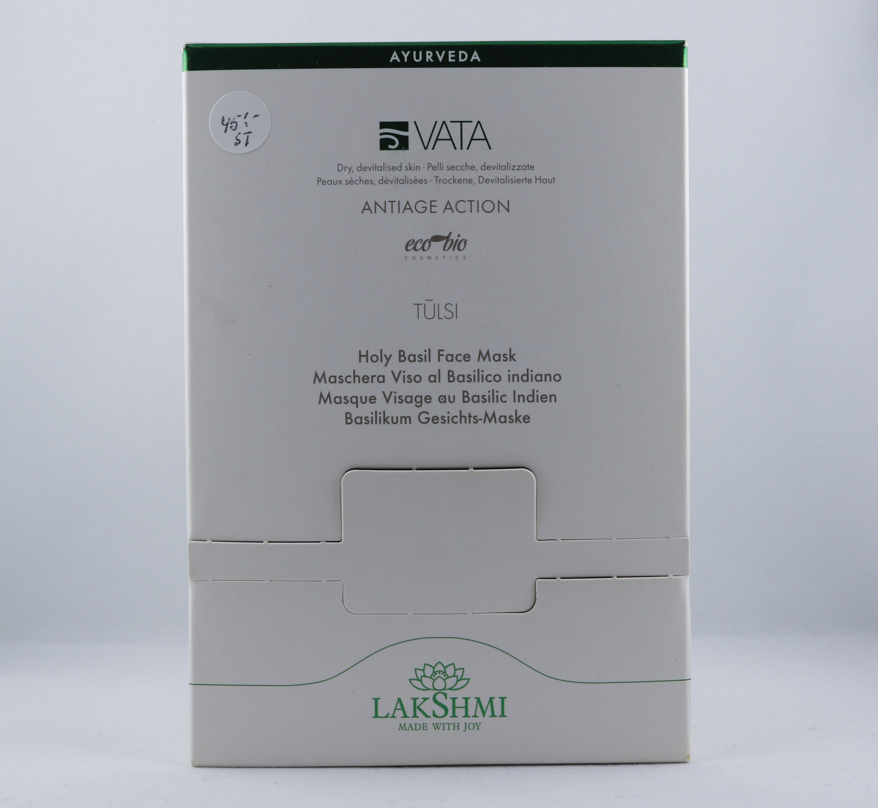 Vata Holy Basil Face Mask hudvårdsprodukt hudvårdstyp alternativ hälsa wellness ayurveda för män