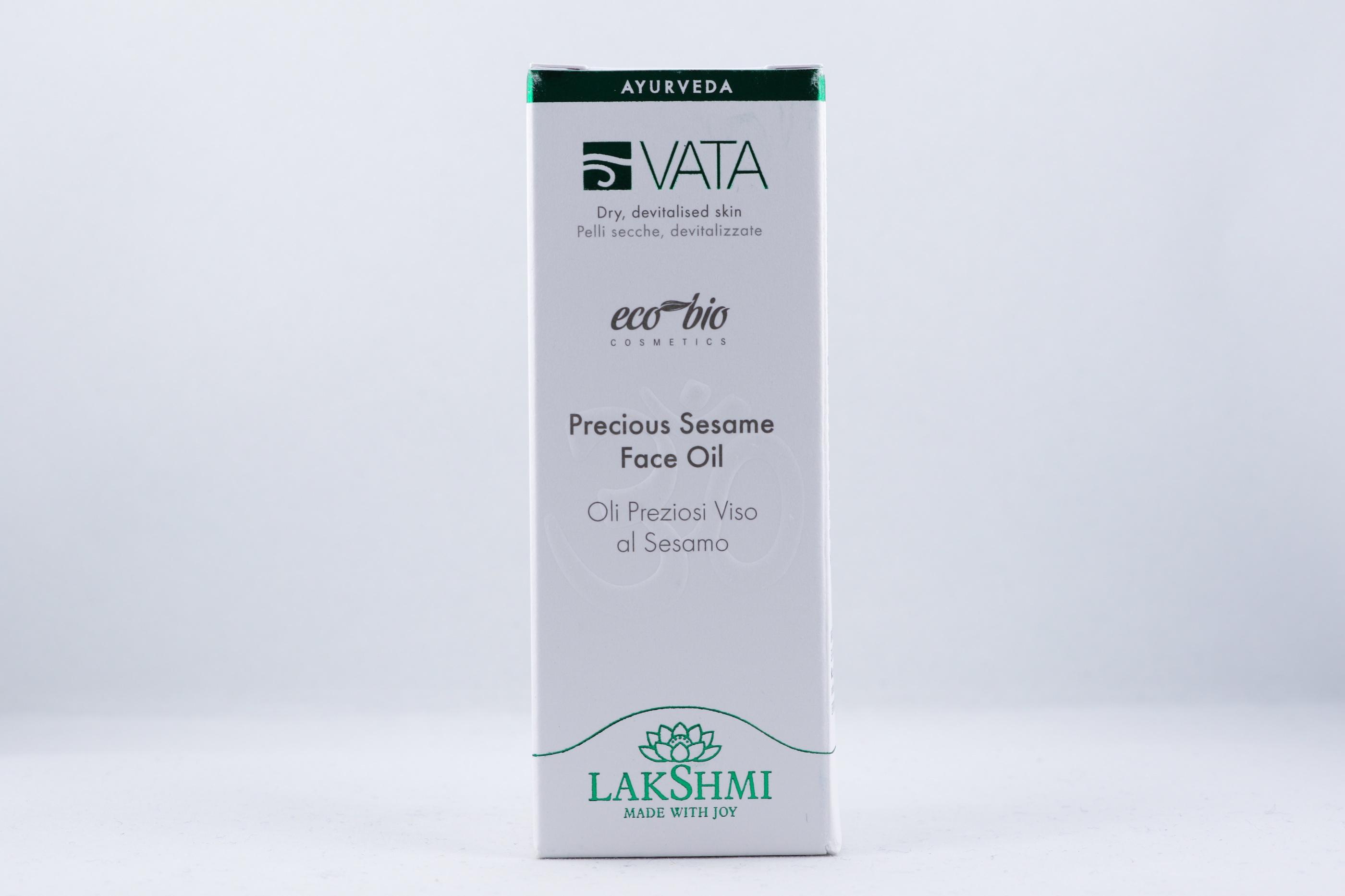 Vata Precious Sesame Face Oil hudvårdsprodukt hudvårdstyp alternativ hälsa wellness ayurveda för män
