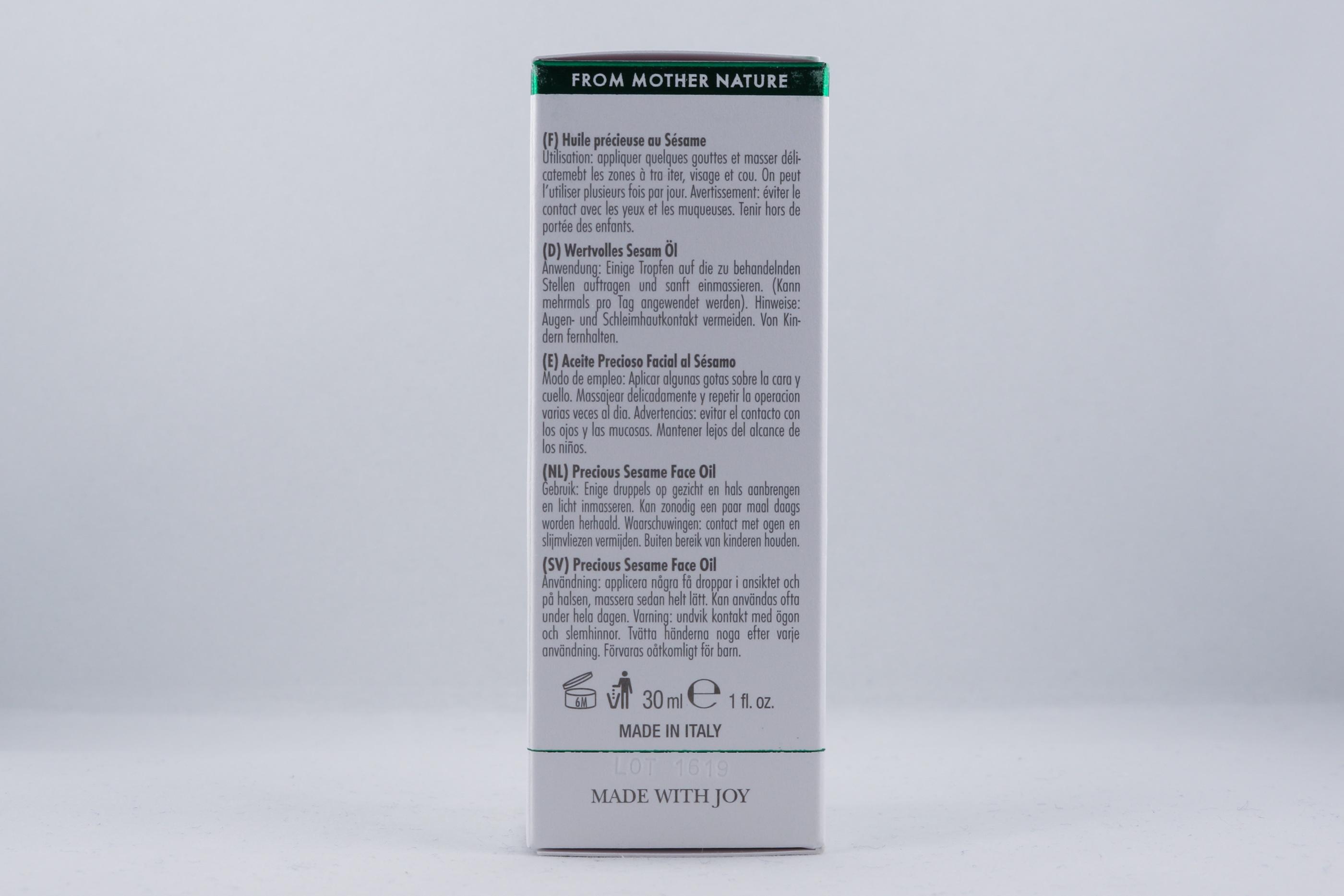 Vata Precious Sesame Face Oil hudvårdsprodukt hudvårdstyp alternativ hälsa wellness ayurveda hudvård