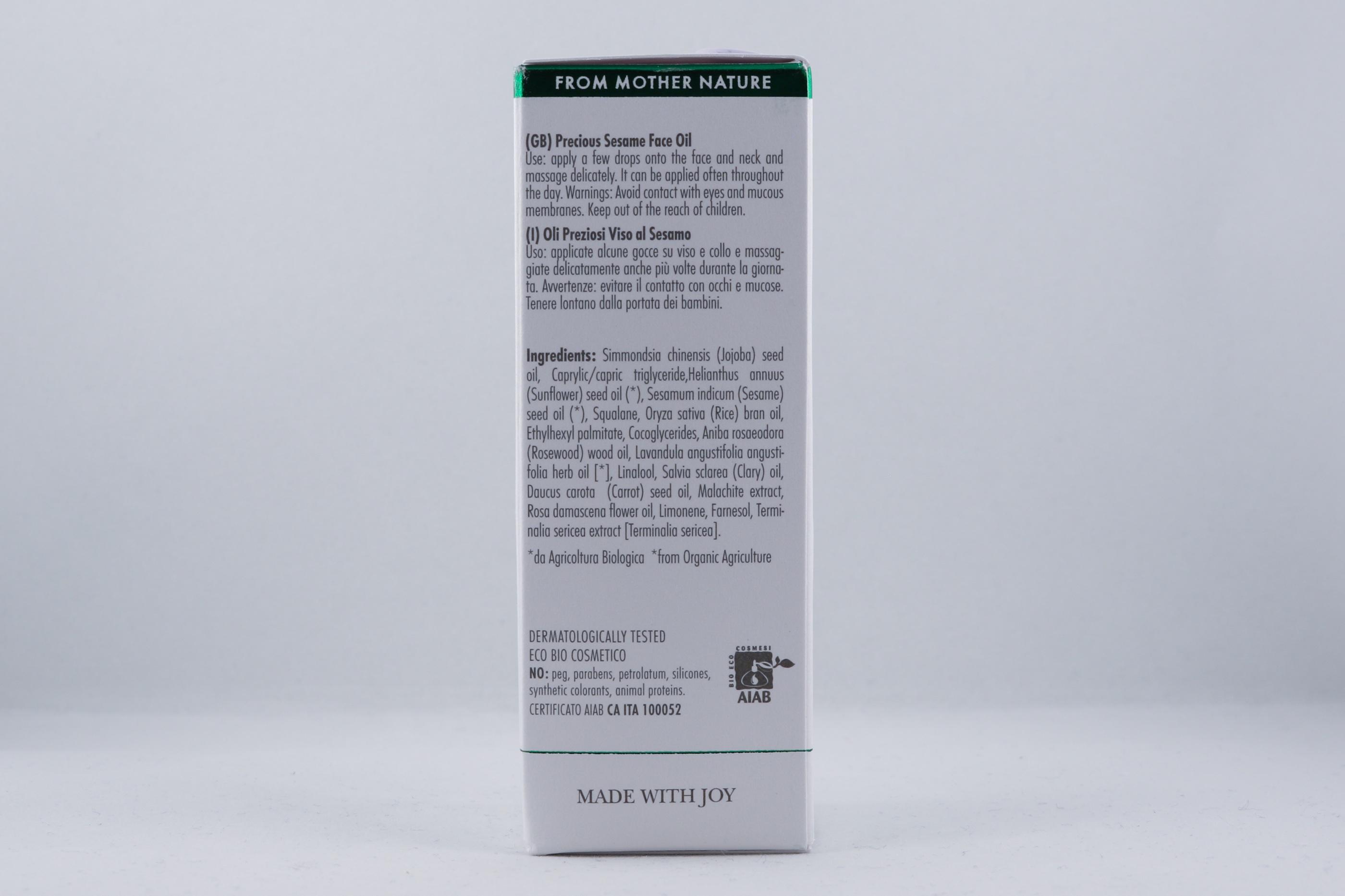 Vata Precious Sesame Face Oil hudvårdsprodukt hudvårdstyp alternativ hälsa wellness ayurveda hudvårdsprodukter