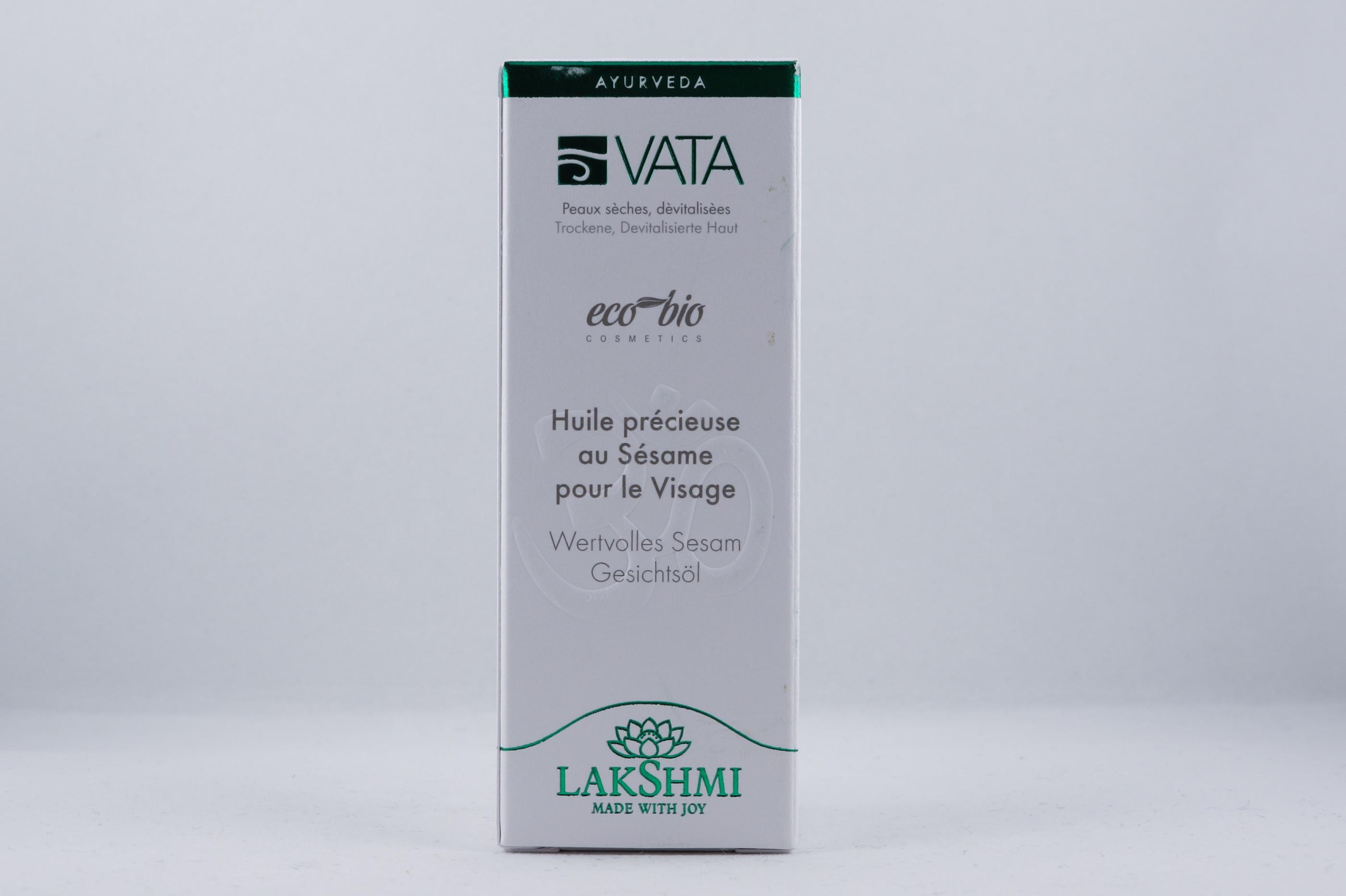 Vata Precious Sesame Face Oil hudvårdsprodukt hudvårdstyp alternativ hälsa wellness ayurveda Lakshmi