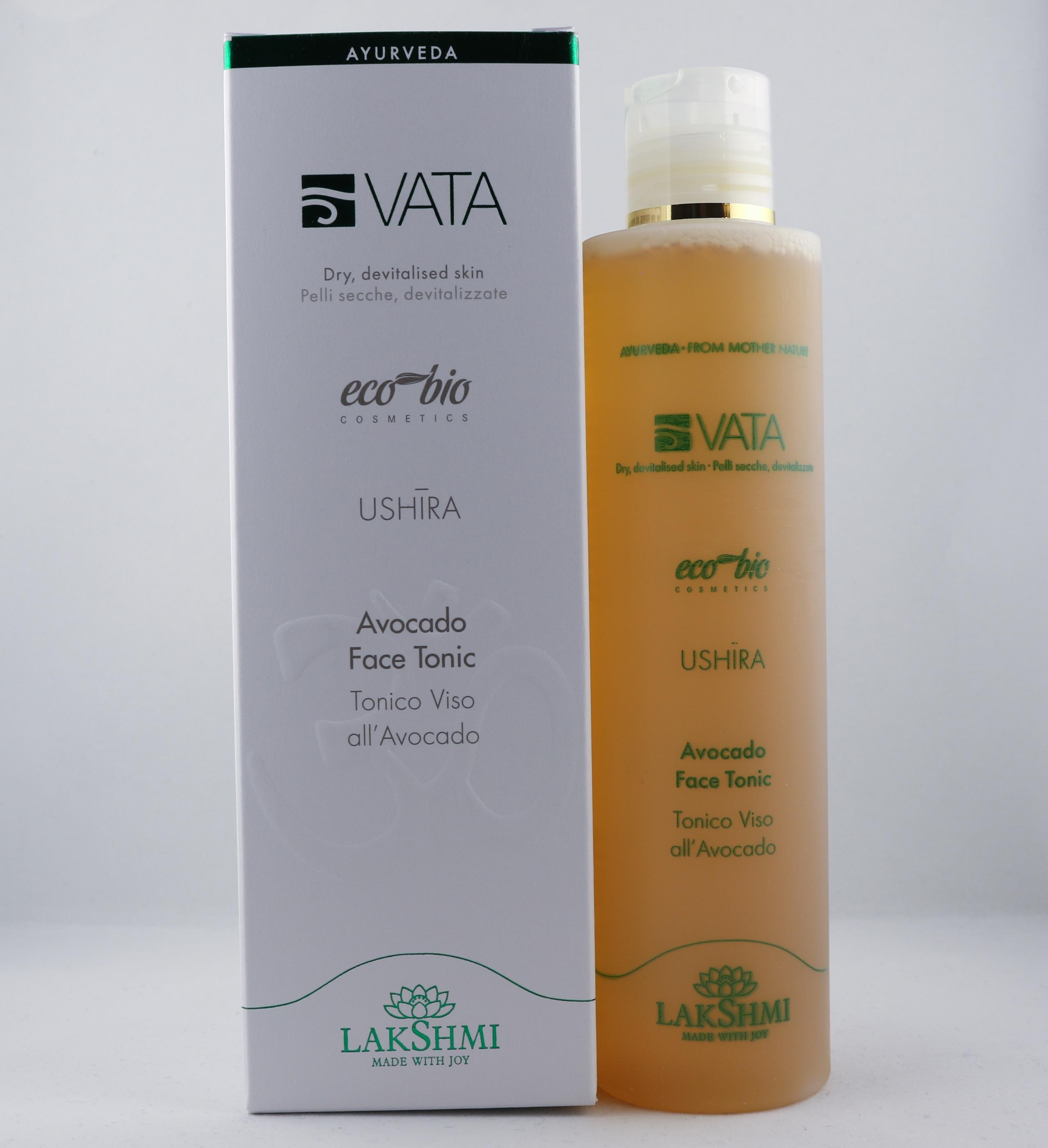 Vata Avocado Face Tonic hudvårdsprodukt hudvårdstyp alternativ hälsa wellness ayurveda ansikte
