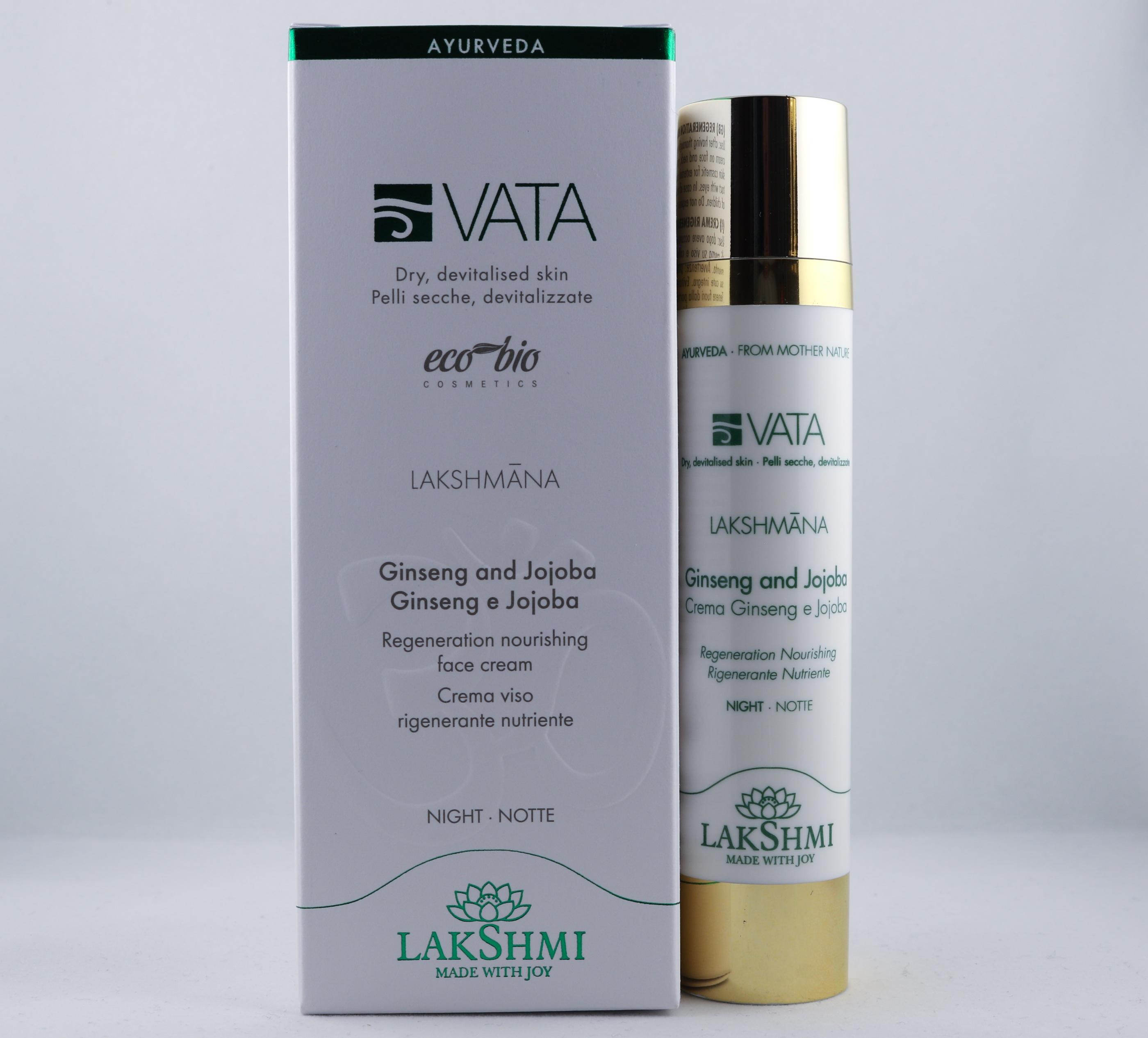 Vata Ginseng and Jojoba Cream hudvårdsprodukt hudvårdstyp alternativ hälsa wellness ayurveda ansikte