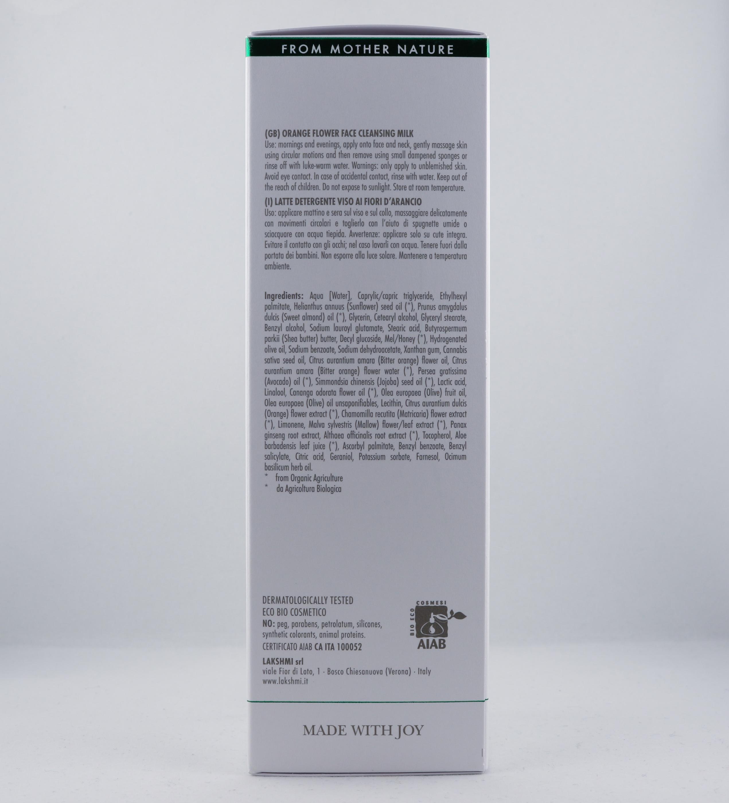 Vata Orange Flower Face Cleansing Milk hudvårdsprodukt hudvårdstyp alternativ hälsa wellness ayurveda hudvårdsprodukter