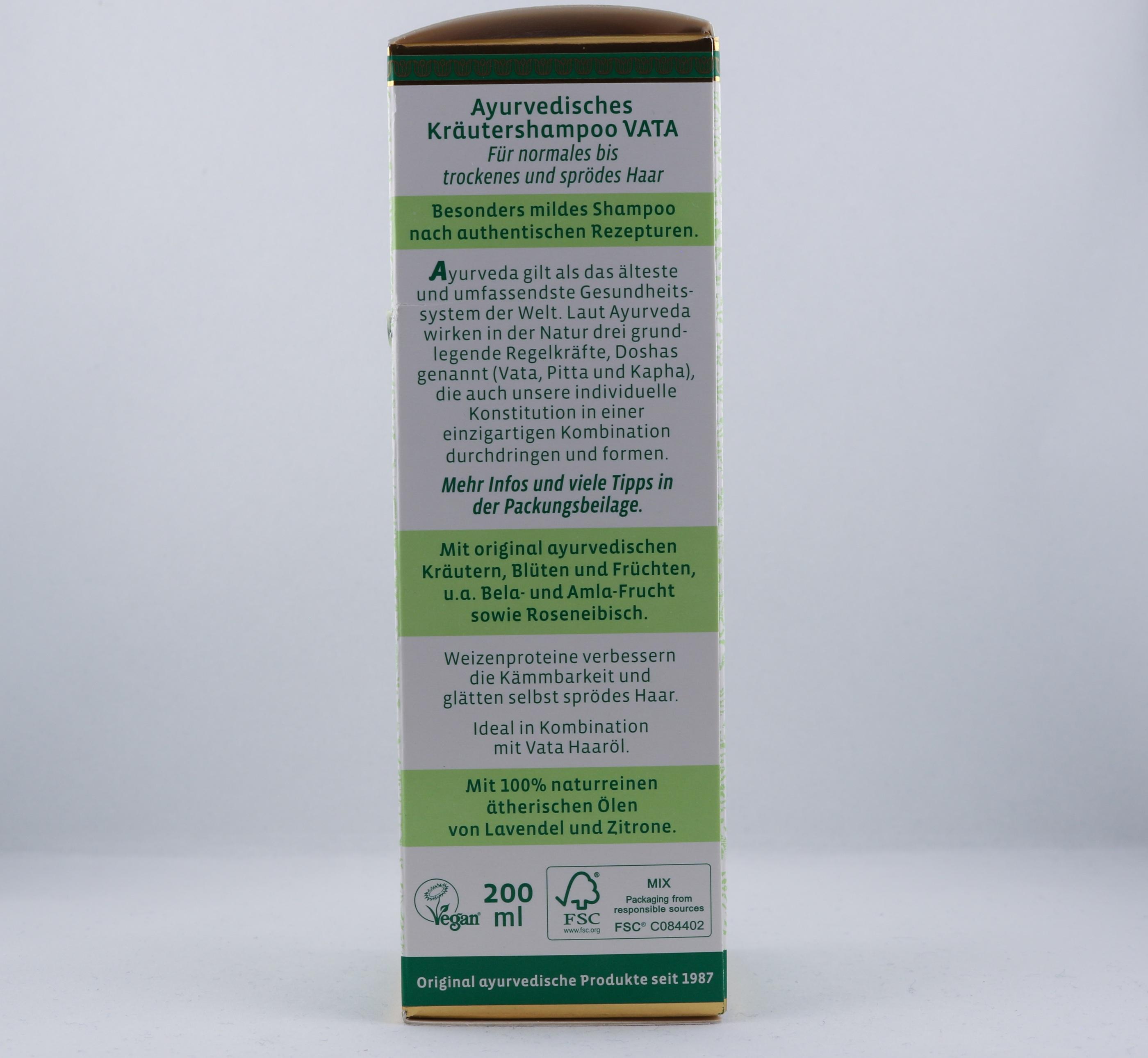 Vata schampo hygien hårtyper alternativ hälsa wellness ayurveda naturligt