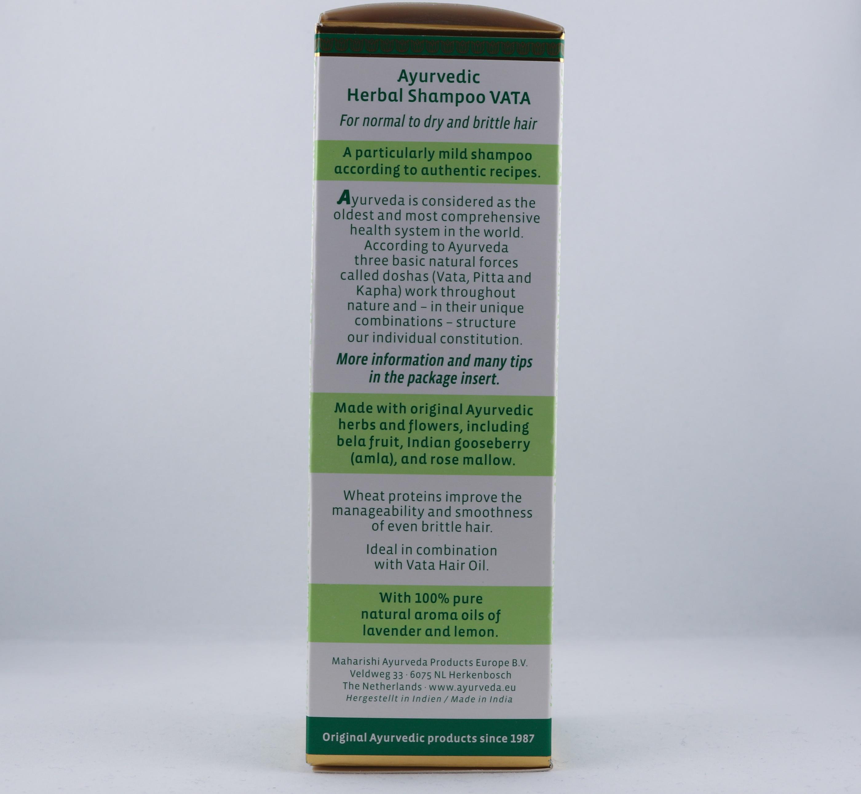 Vata schampo hygien hårtyper alternativ hälsa wellness ayurveda shampoo