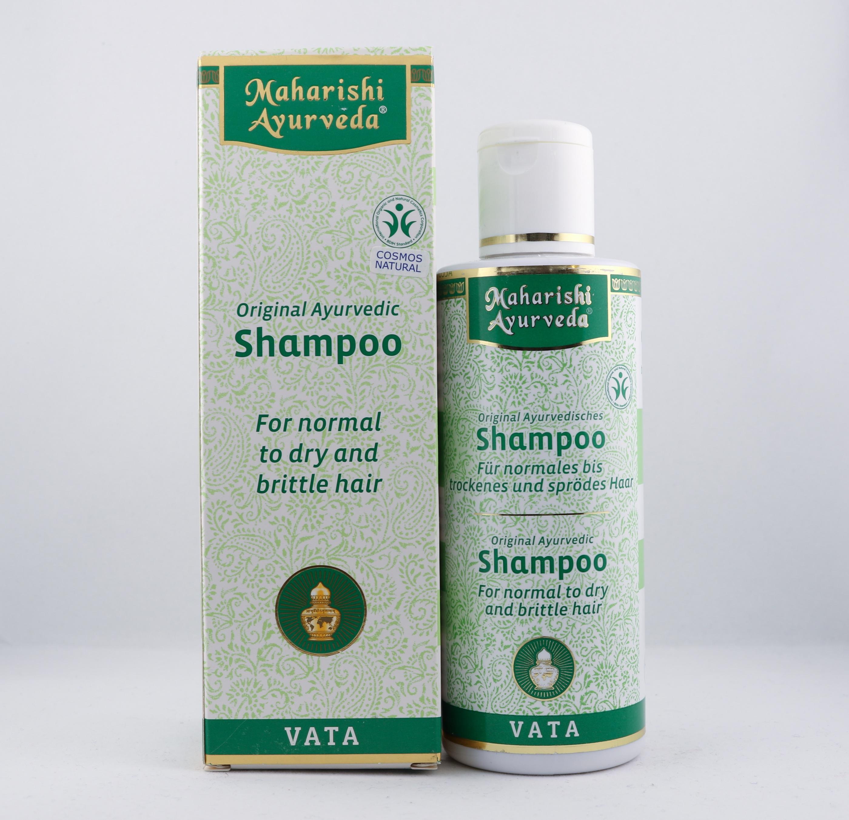 Vata schampo hygien hårtyper alternativ hälsa wellness ayurveda torrt hår