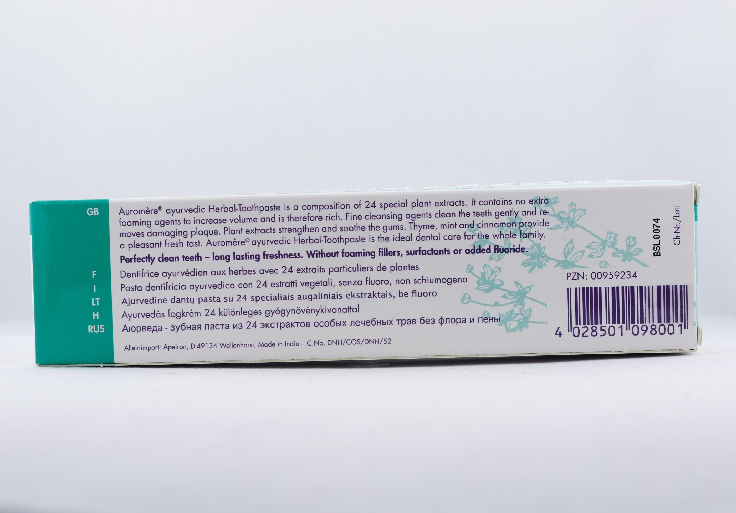 Lakrits örttandkräm wellness ayurveda halmstad sweden svensk hygien