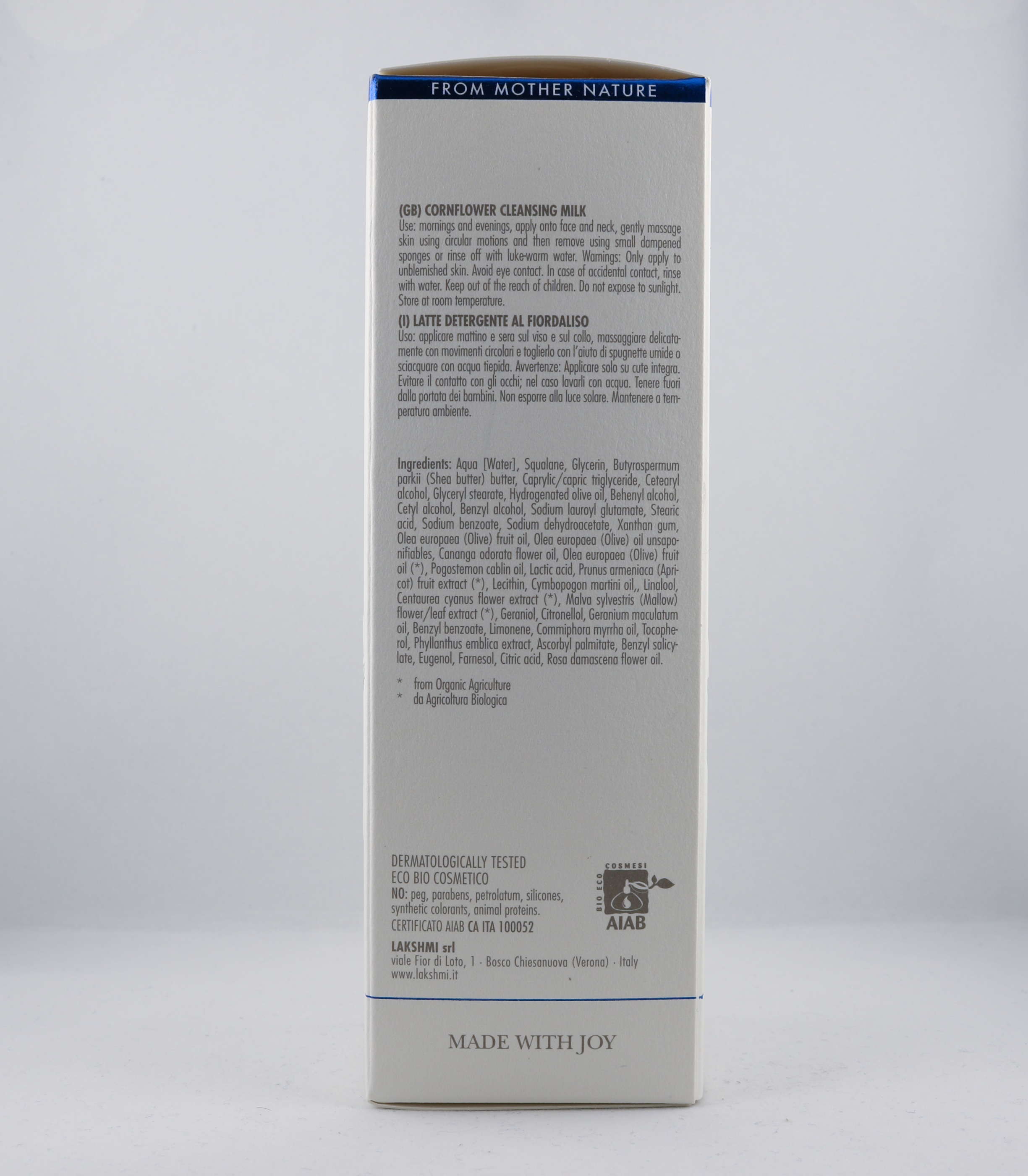 Pitta Cornflower Face Cleansing Milk wellness ayurveda halmstad sweden svensk hudvård