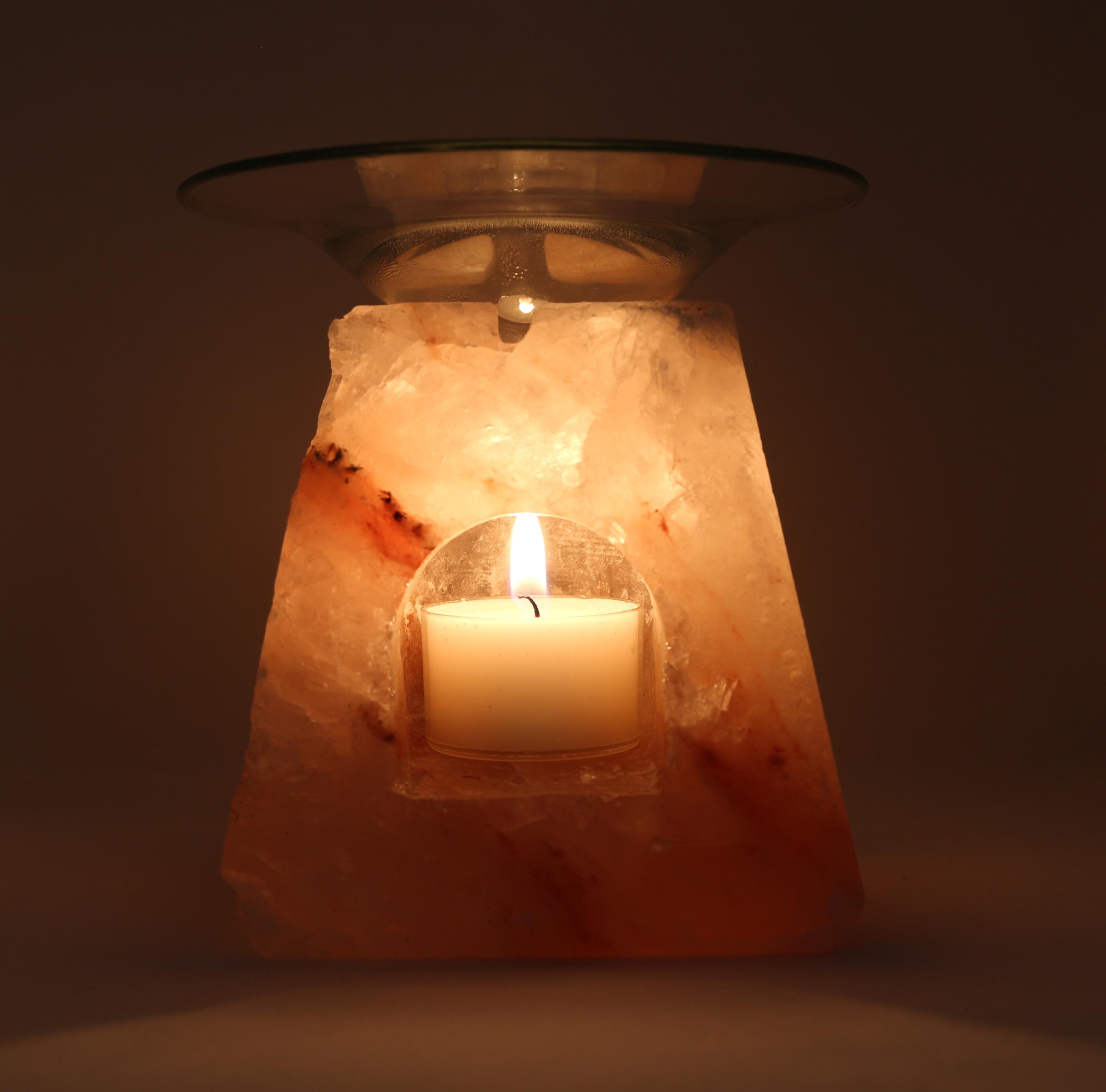 Himalaya Salt Aromabrännare Fyrkantig form wellness ayurveda halmstad sweden svensk värmeljushållare