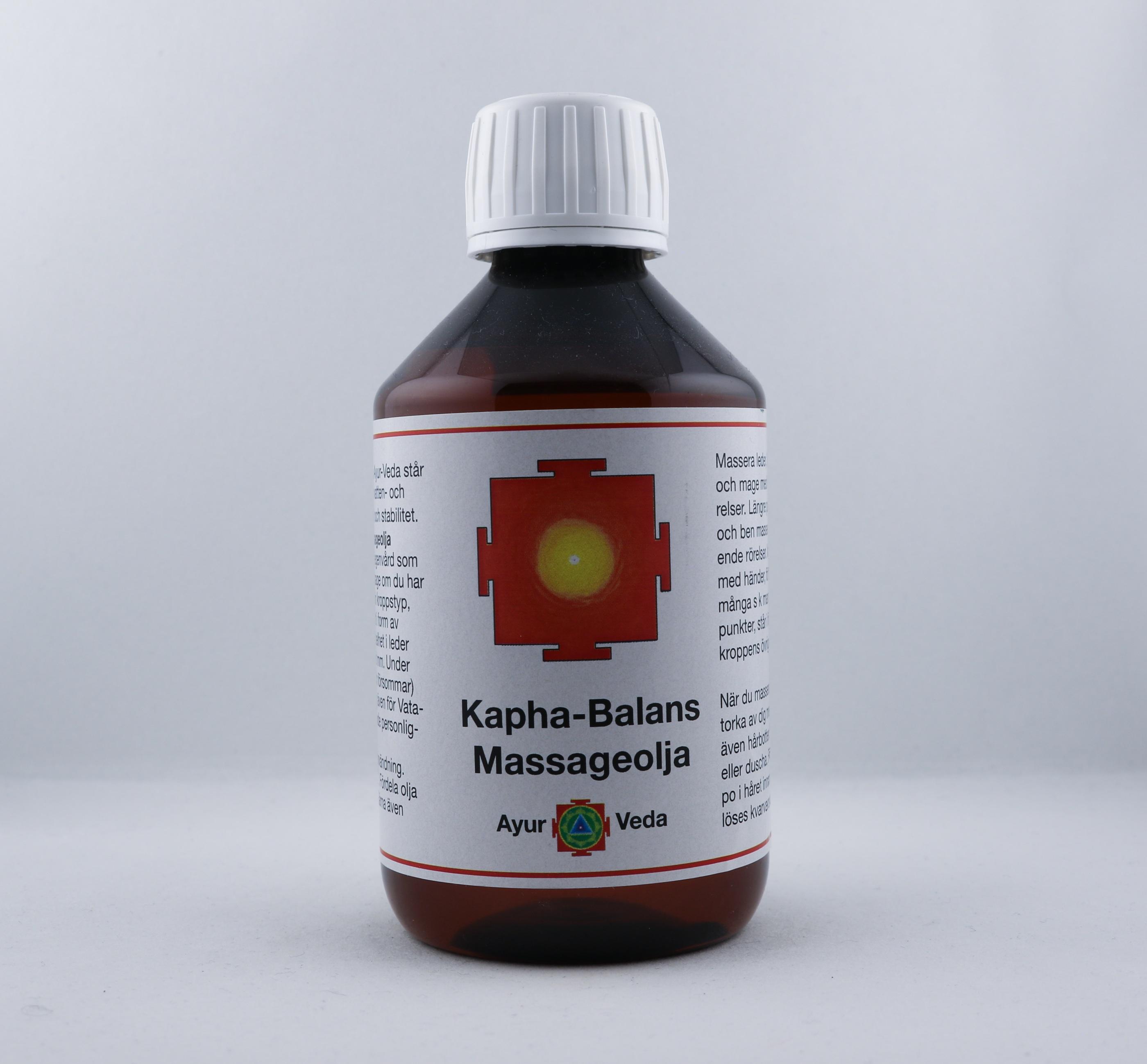 Kapha-balans massageolja wellness ayurveda halmstad sweden svensk massage olja
