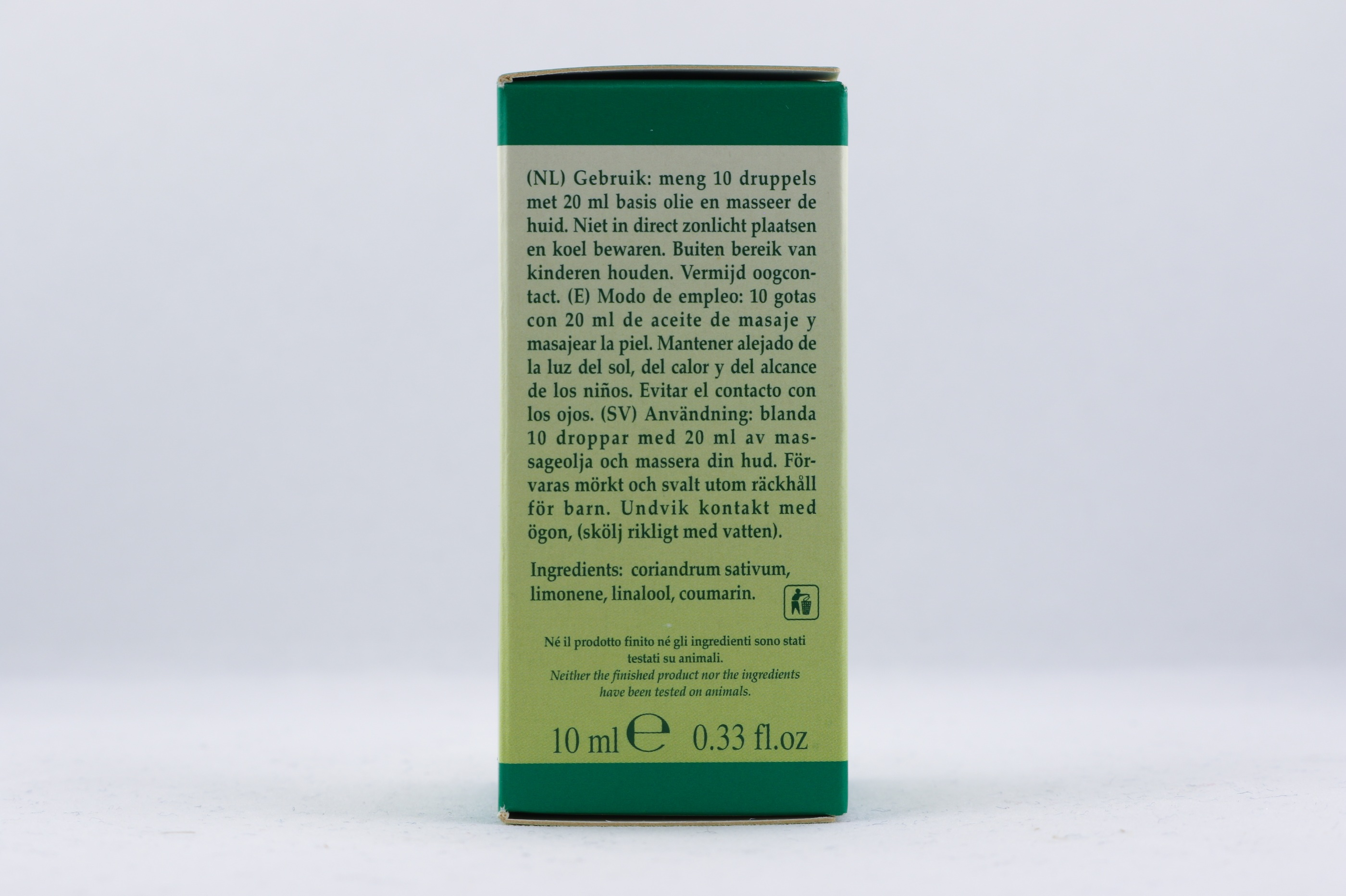 Koriander olja wellness ayurveda halmstad sweden svensk eterisk aroma olja