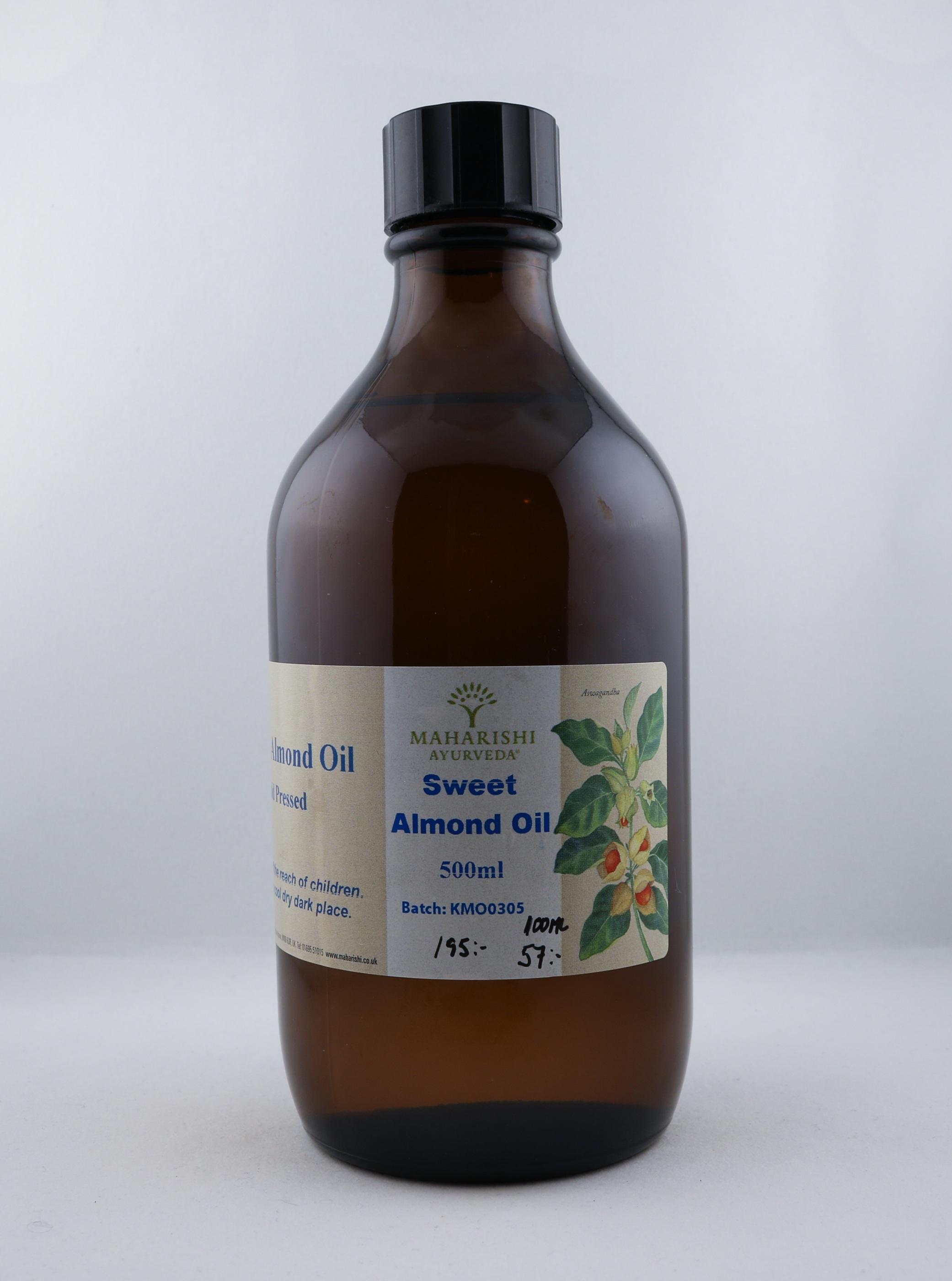 Söt mandel olja wellness ayurveda halmstad sweden svensk massage olja