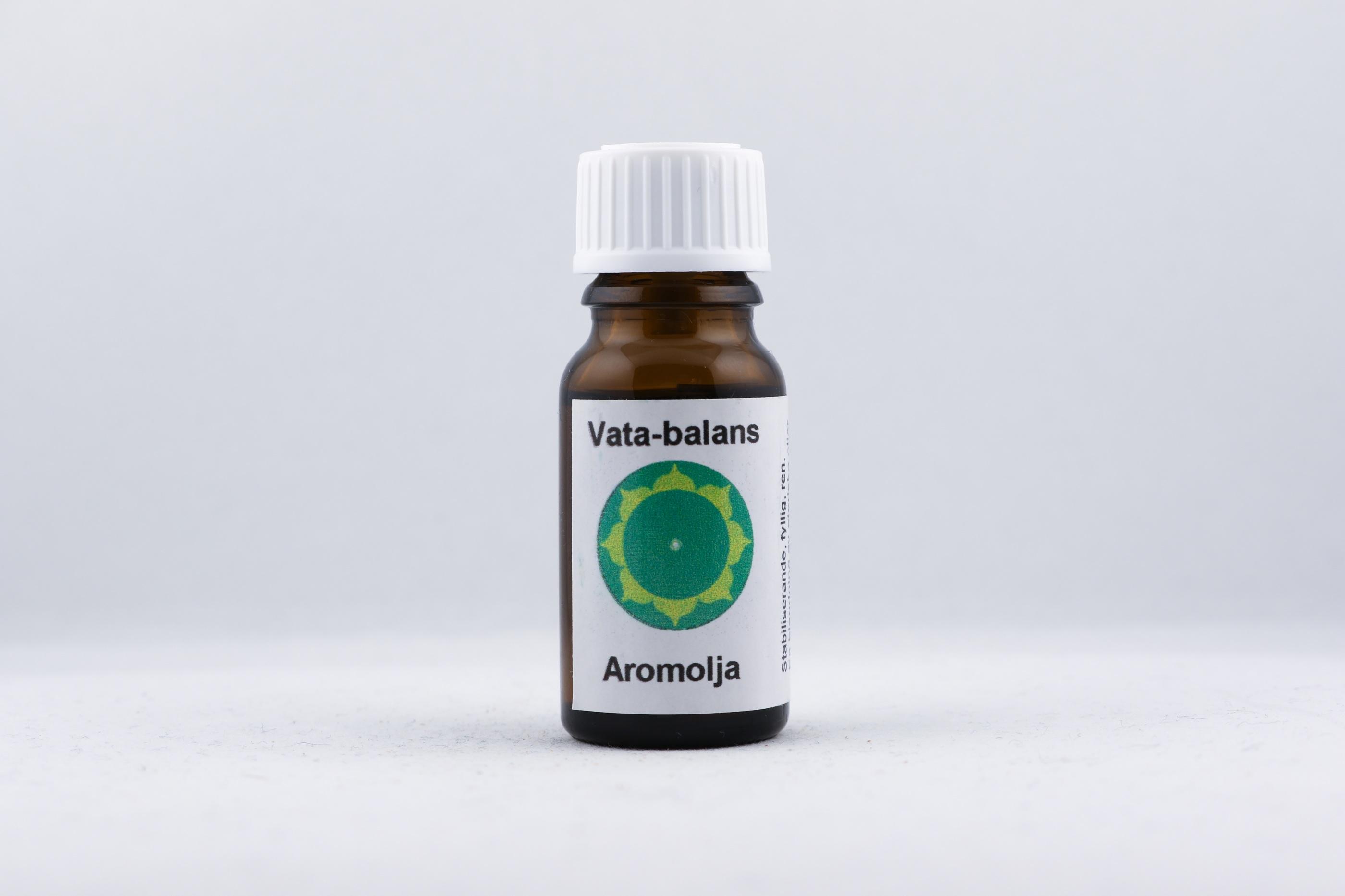 Vata-Balans eterisk olja wellness ayurveda halmstad sweden svensk eterisk aroma olja