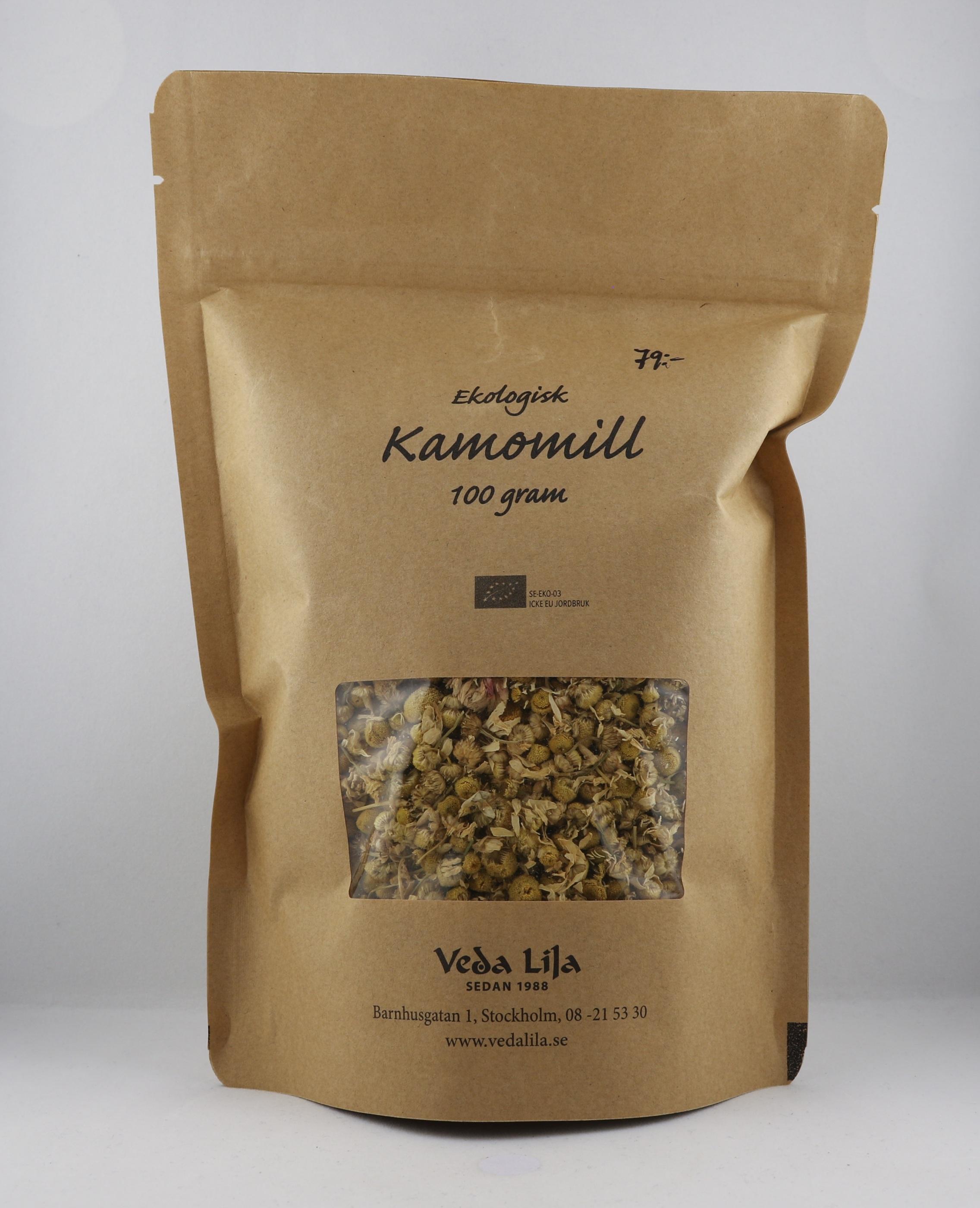 Kamomill te Wellness Ayurveda Halmstadmassören Halmstad Sverige Sweden svensk eko ekologiskt