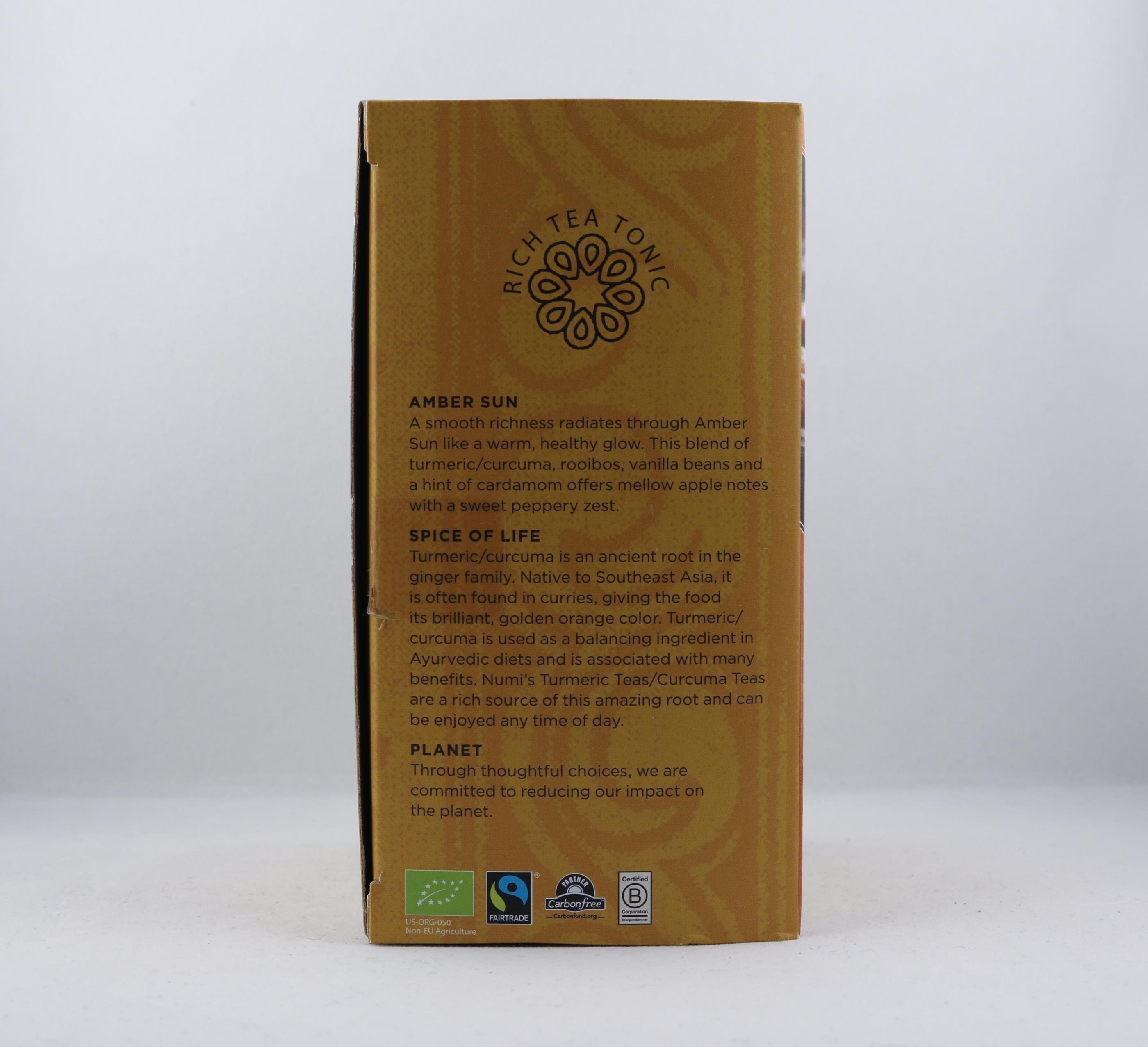 Turmeric Curcuma Amber Sun te Wellness Ayurveda Halmstadmassören Halmstad Sverige Sweden svensk eko ekologiskt fair labor fairtrade