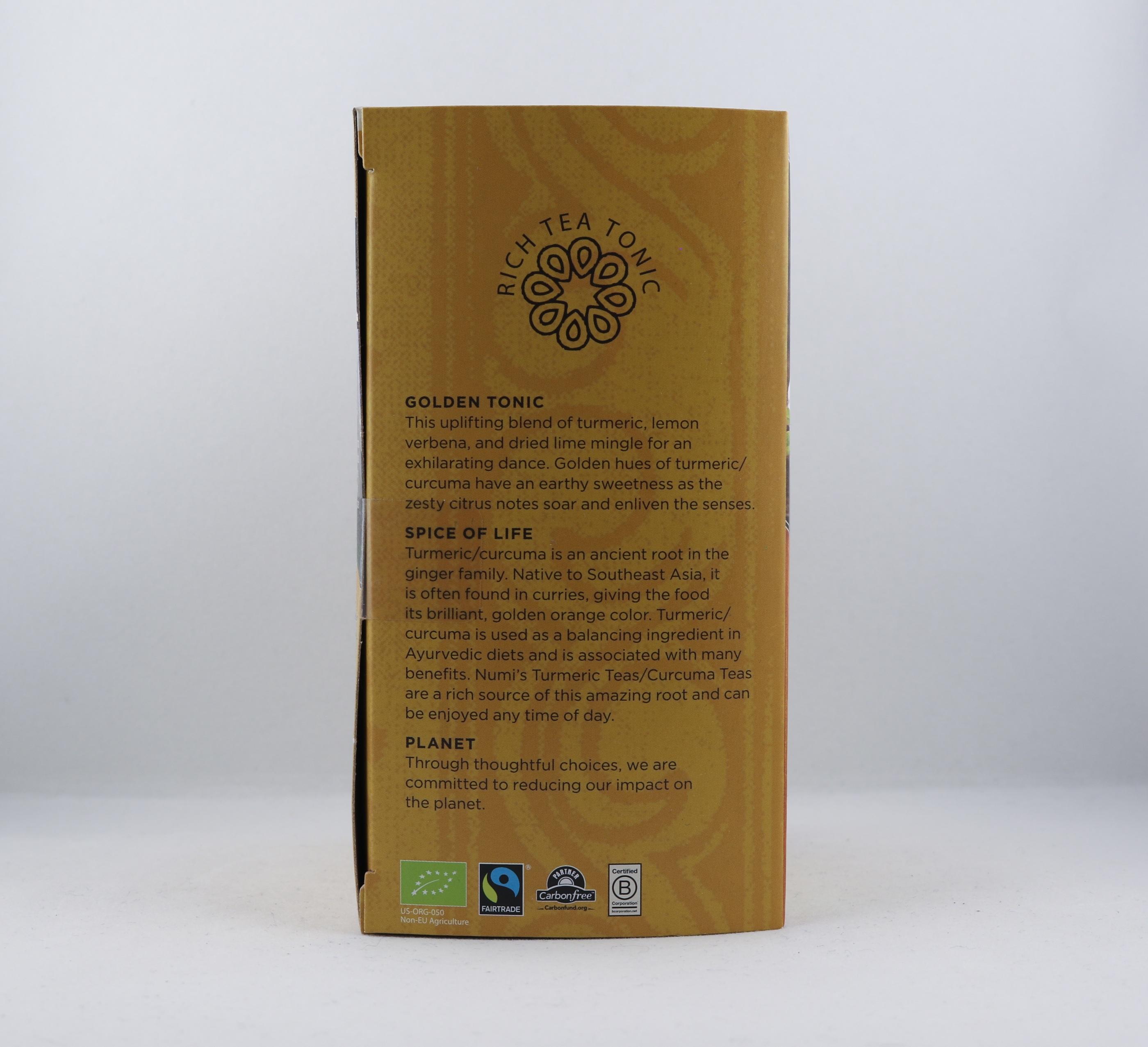 Turmeric Curcuma Golden Tonic te Wellness Ayurveda Halmstadmassören Halmstad Sverige Sweden svensk eko ekologiskt fair labor fairtrade