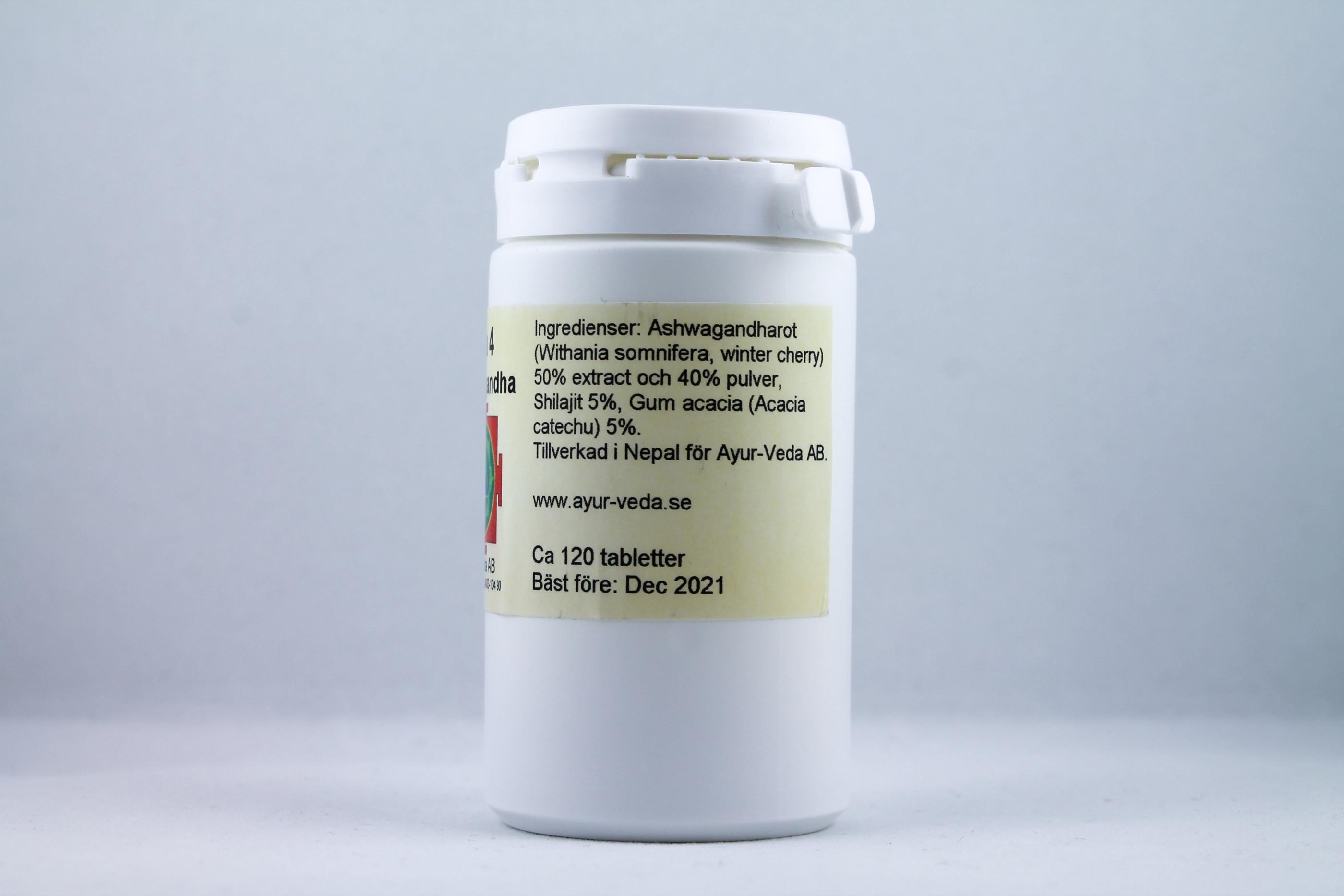 Ashwagandha tabletter holistisk homeopati alternativ hälsa Wellness Ayurveda Halmstadmassören Halmstad Sverige Sweden svensk tabletter