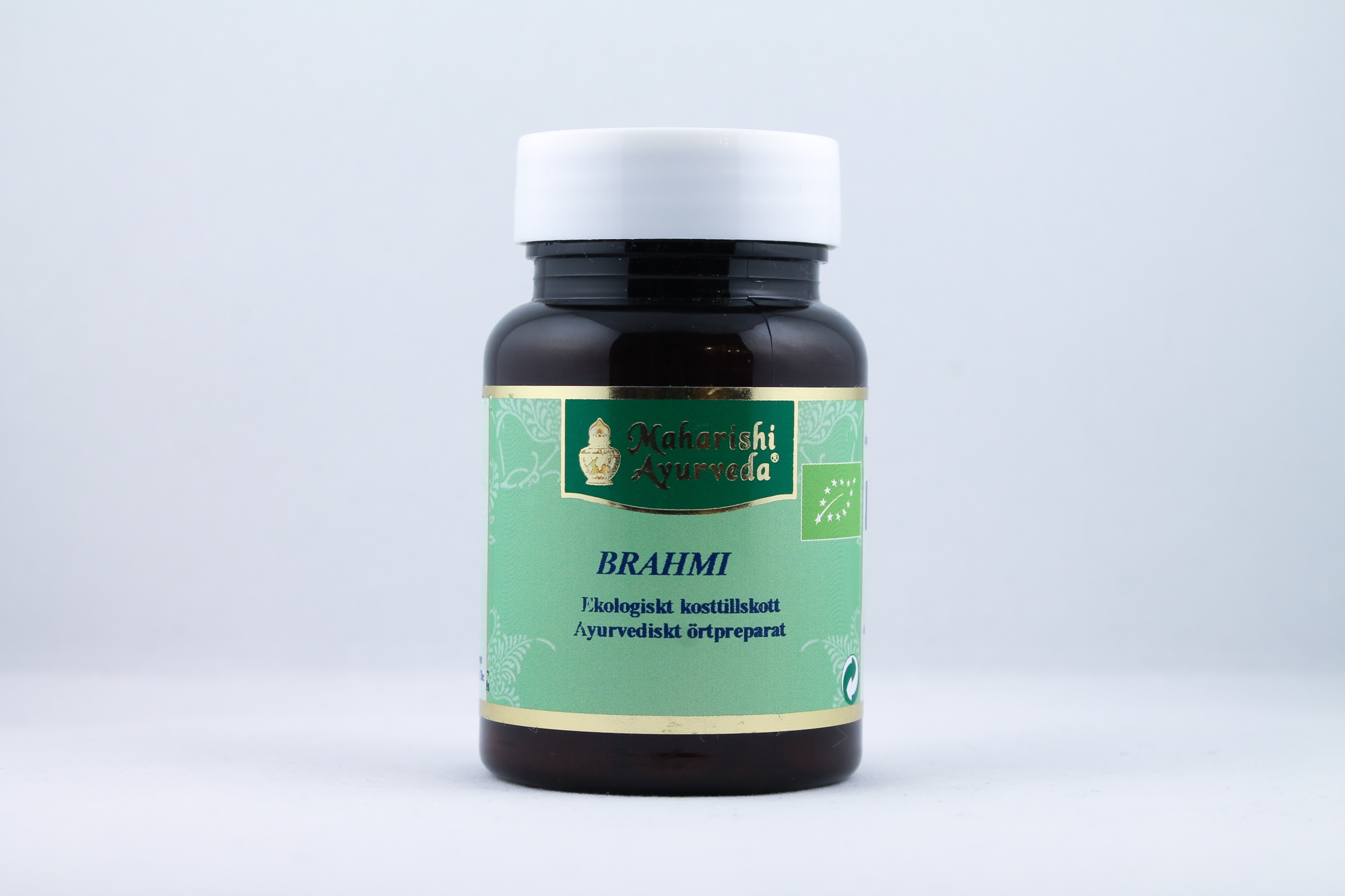 Brahmi tabletter Wellness Ayurveda Halmstadmassören Halmstad Sverige Sweden svensk tabletter eko ekologiskt